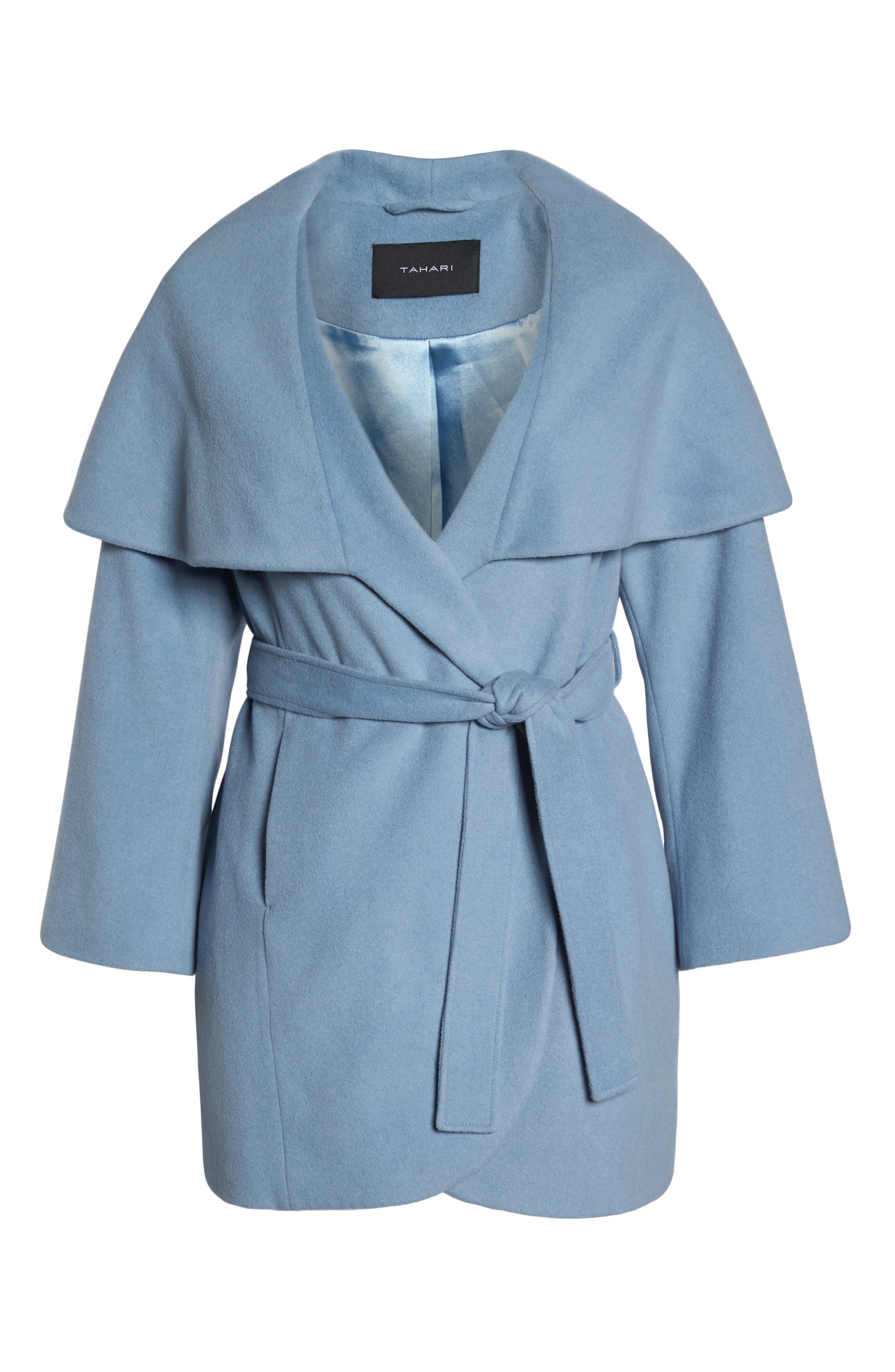Marla Cutaway Wrap Coat with Oversize Collar,                             Alternate thumbnail 16, color,