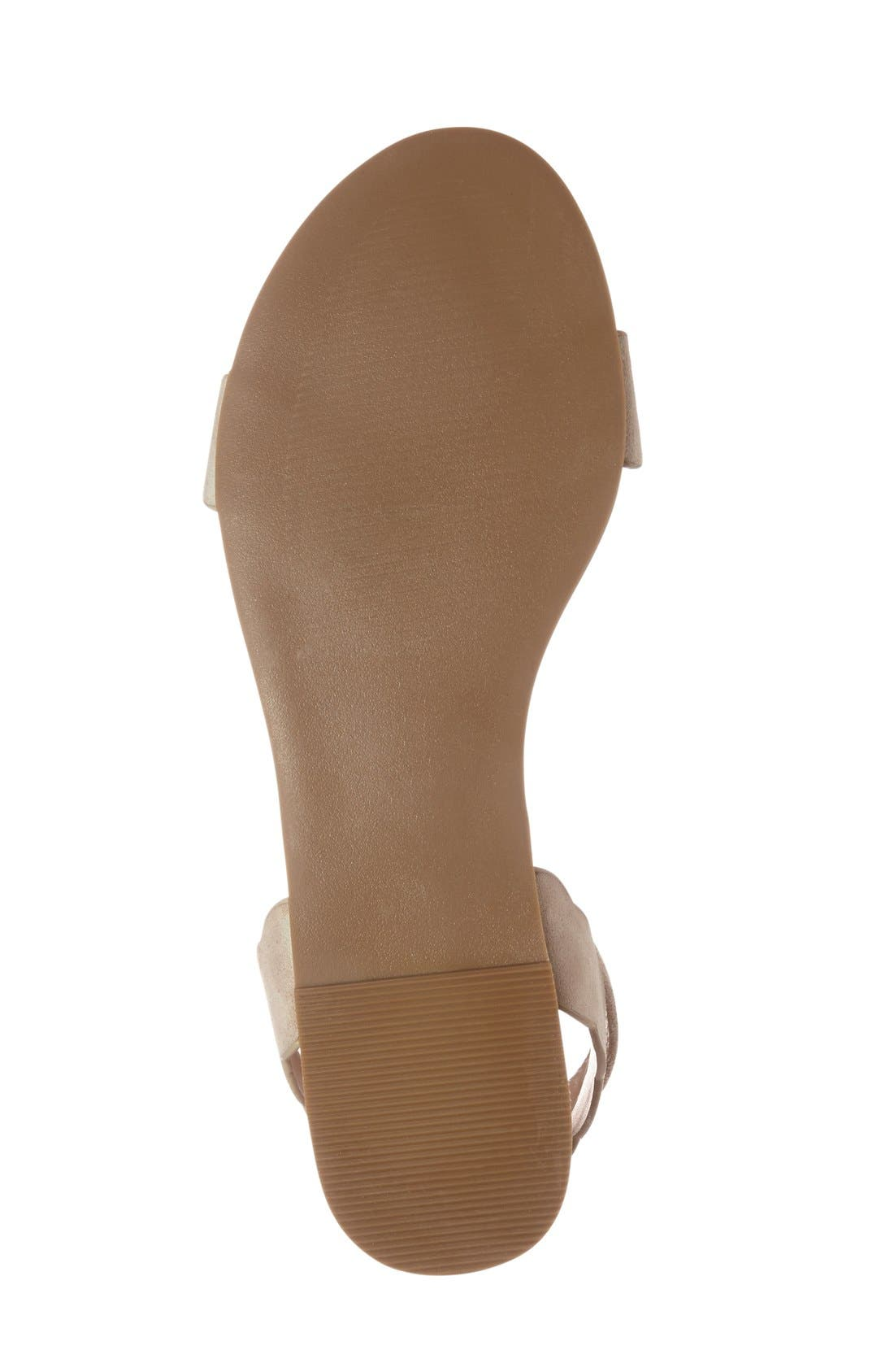 'Odette' Scalloped Ankle Strap Flat Sandal,                             Alternate thumbnail 26, color,