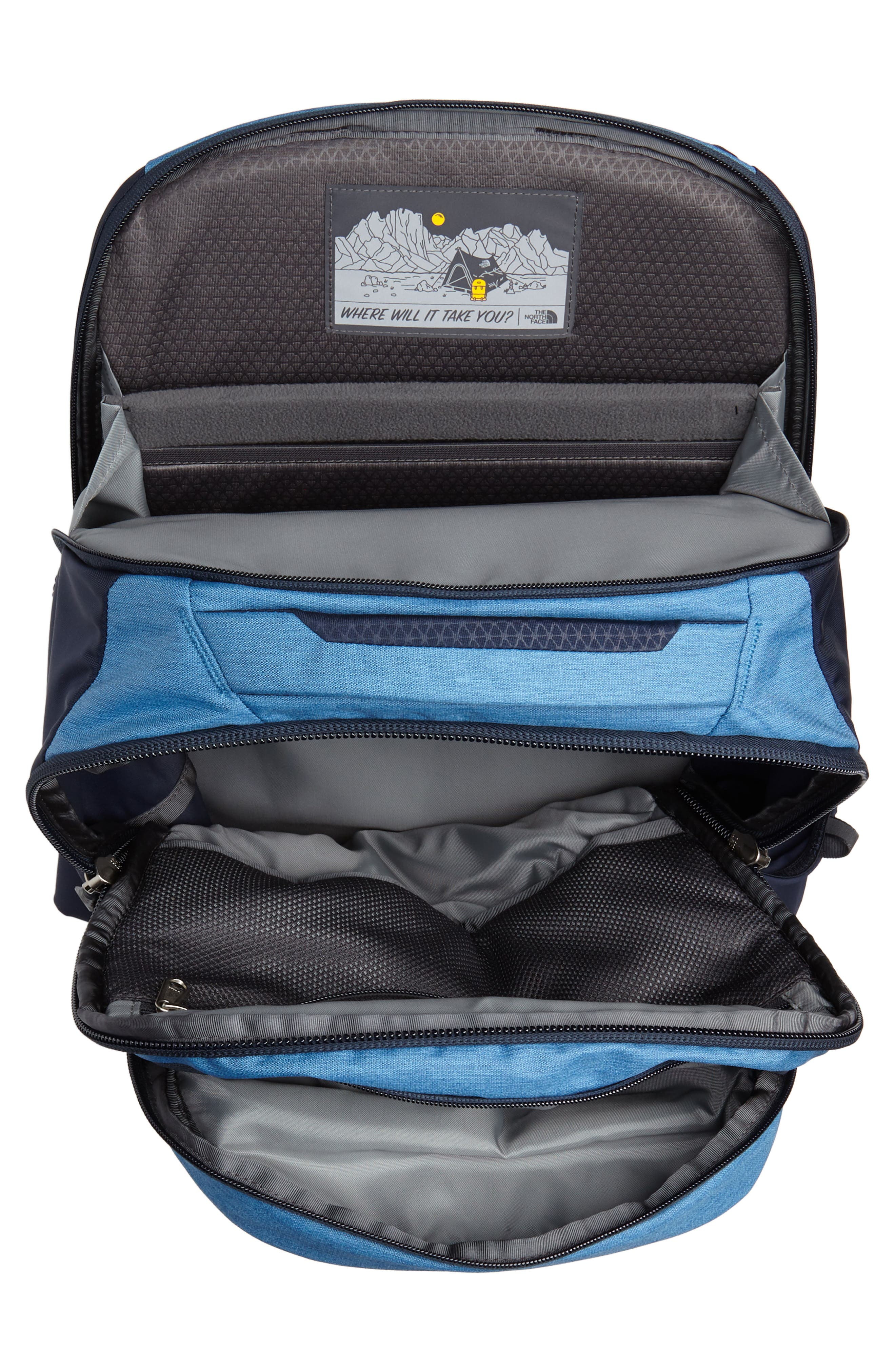 THE NORTH FACE,                             Router Backpack,                             Alternate thumbnail 4, color,                             DISH BLUE HEATHER/ URBAN NAVY