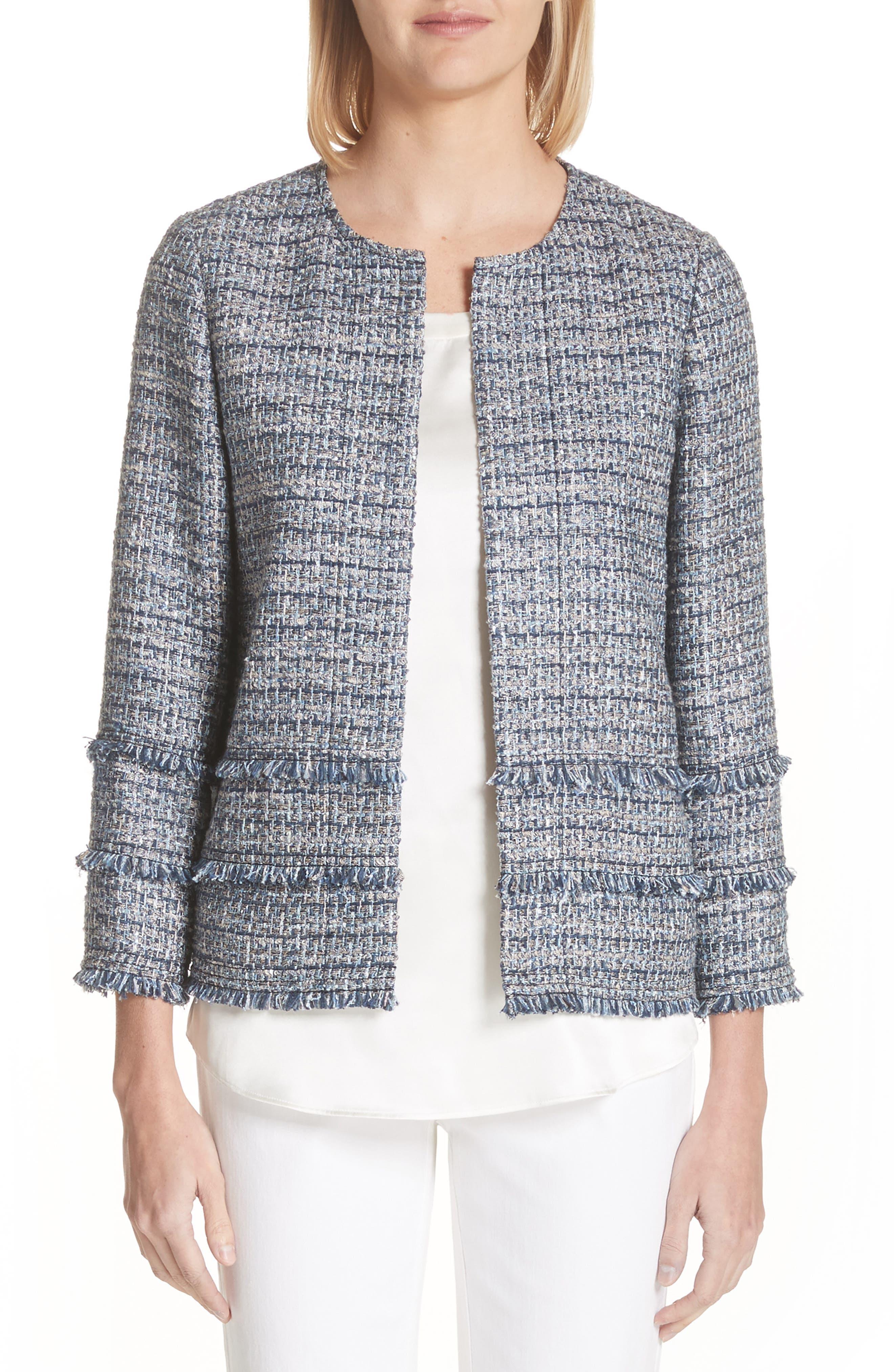 Aisha Exhibition Tweed Jacket,                             Main thumbnail 1, color,                             412