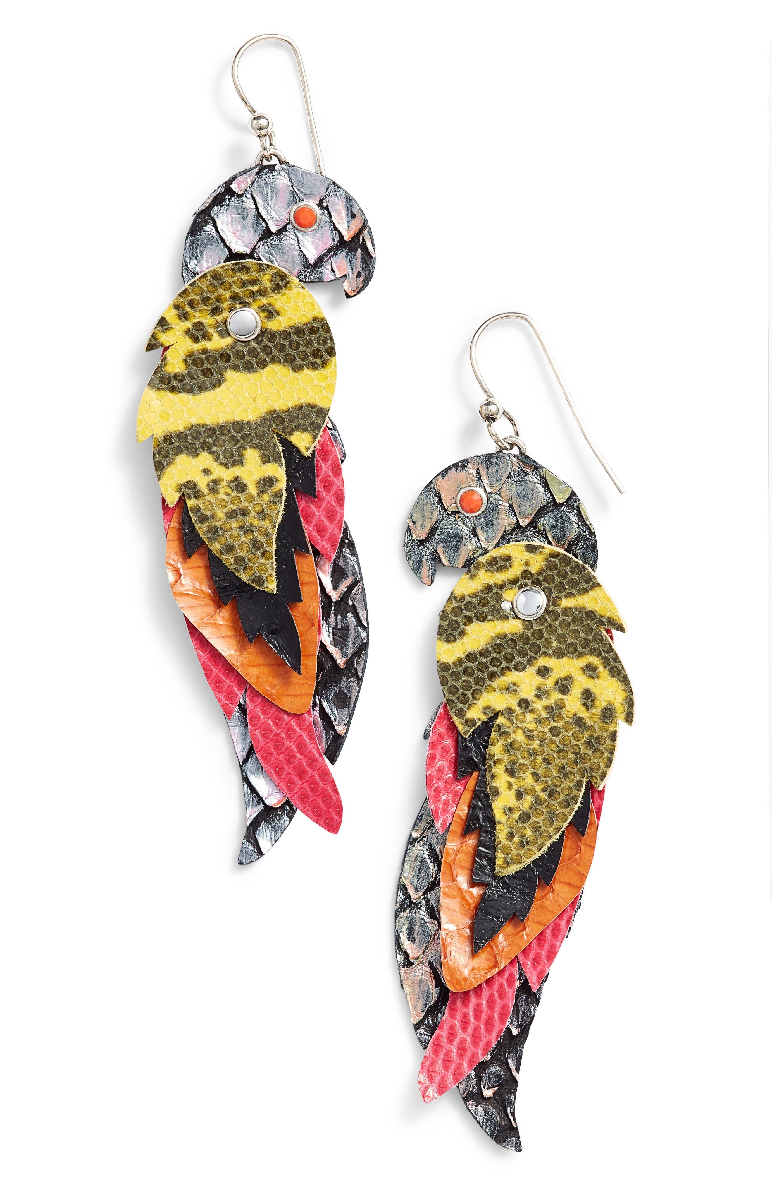 Layer Drop Earrings,                             Main thumbnail 1, color,                             BLUE MULTI
