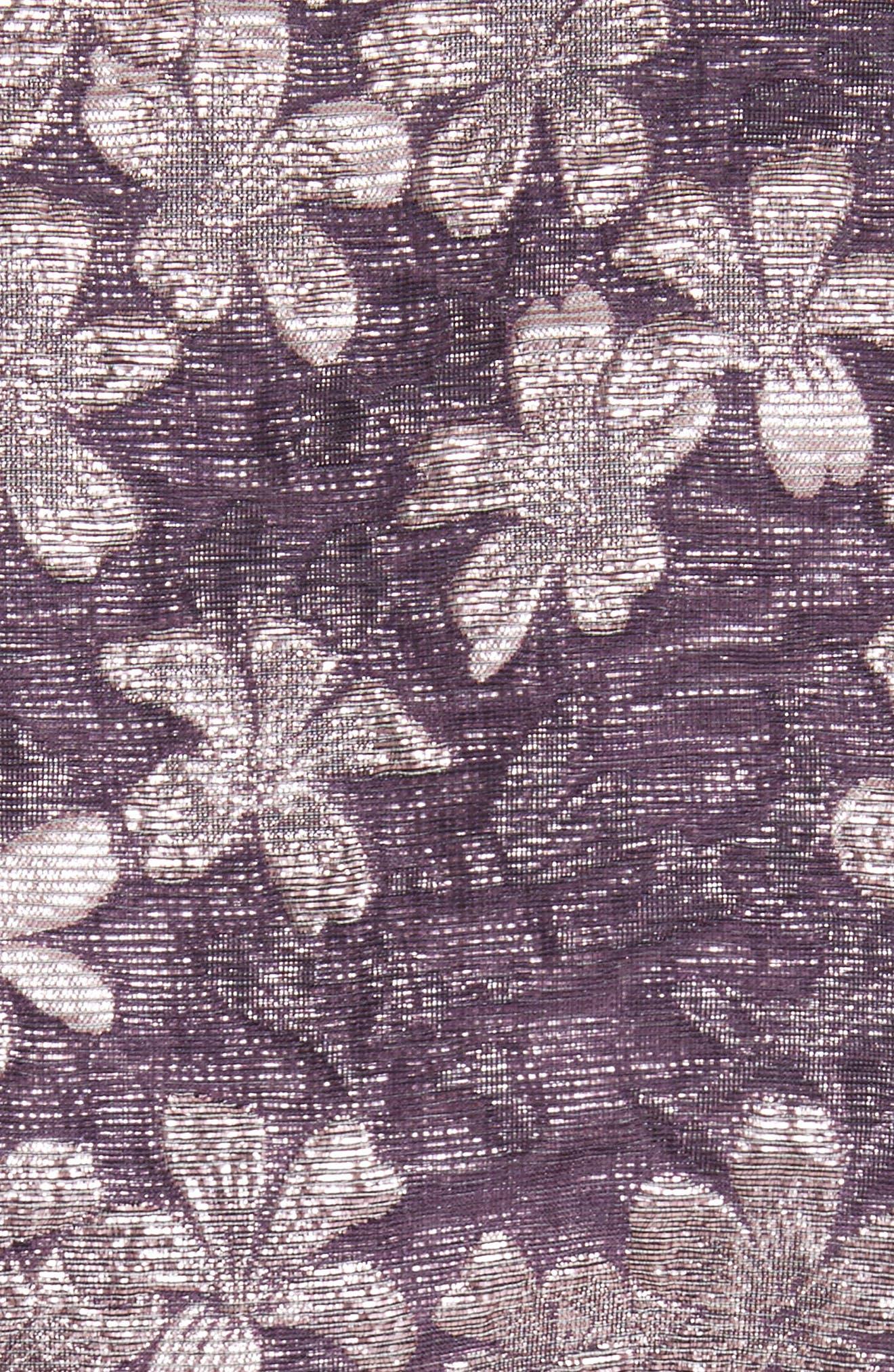 Floral Jacquard Jacket,                             Alternate thumbnail 6, color,                             560