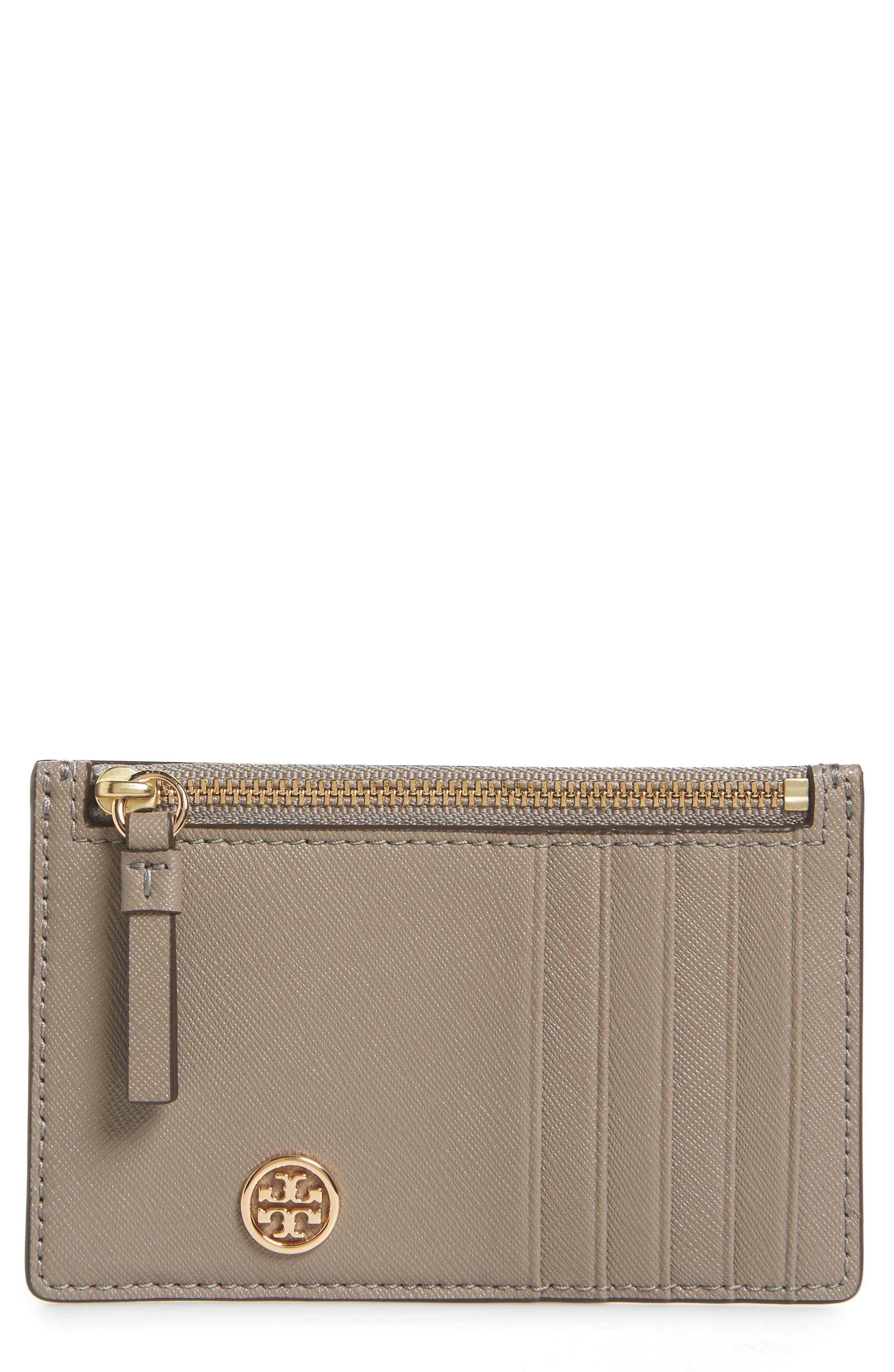 Robinson Leather Card Case,                         Main,                         color, GRAY HERON