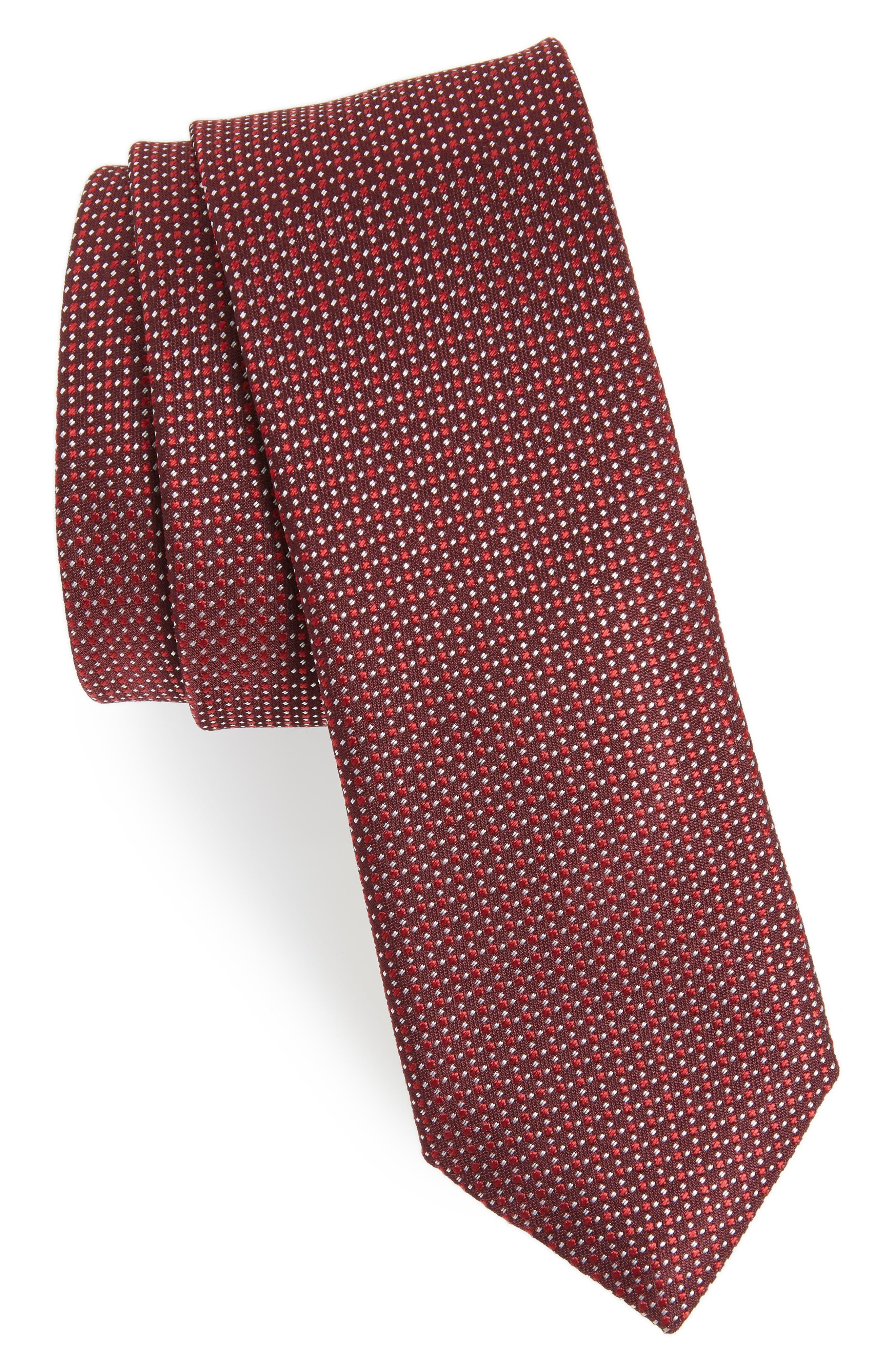 Solid Silk Tie,                         Main,                         color, 618