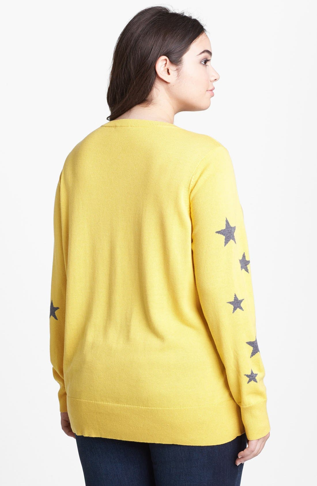 Intarsia Crewneck Sweater,                             Alternate thumbnail 9, color,