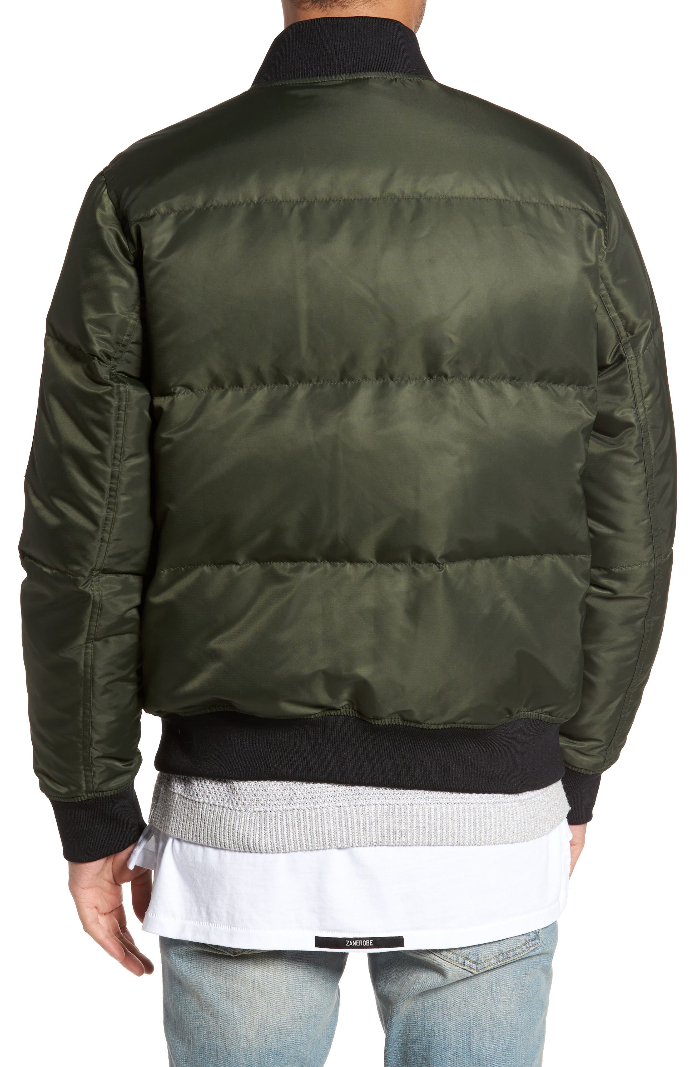 Quilted Down Bomber Jacket,                             Alternate thumbnail 6, color,