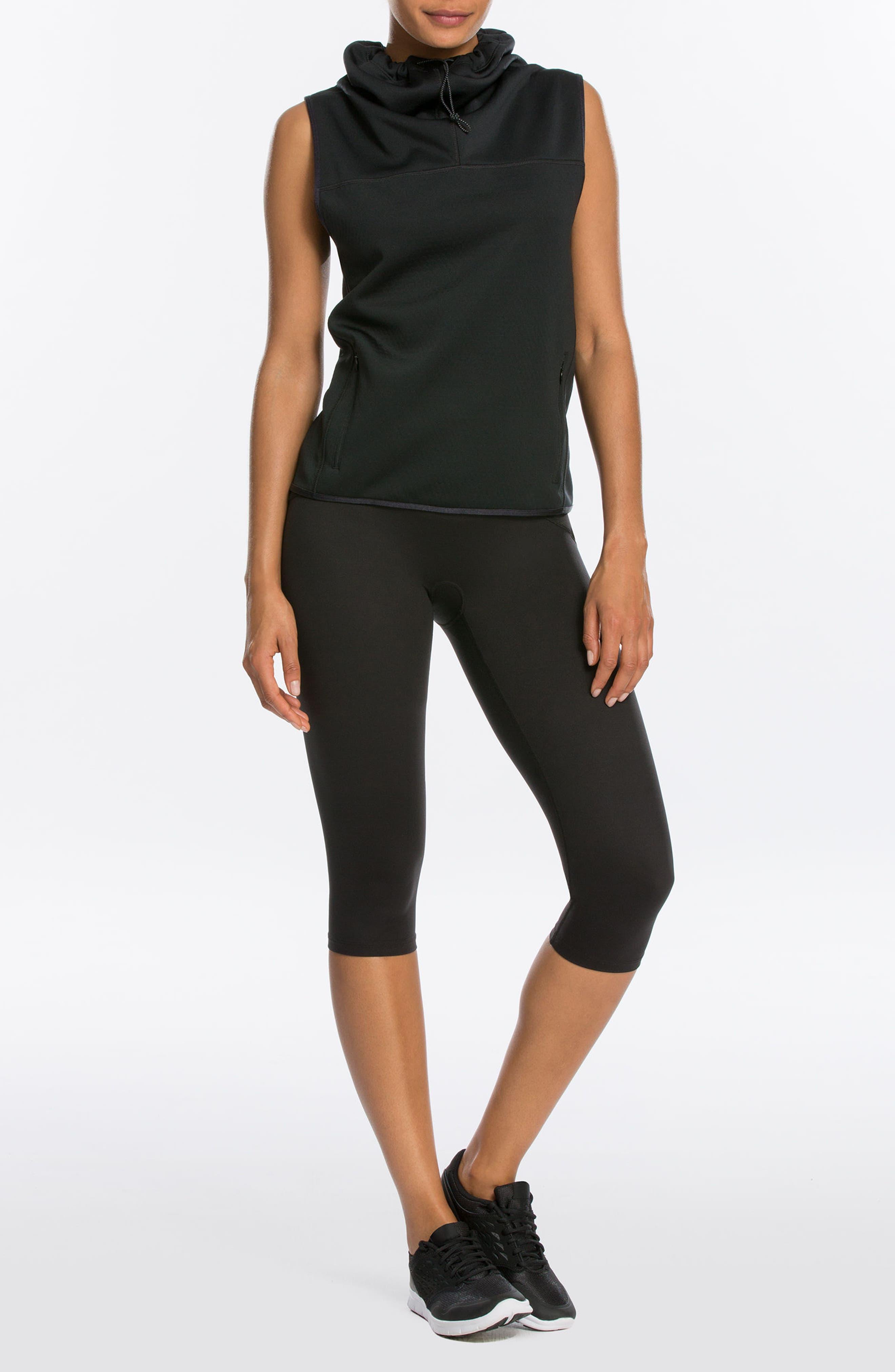 Active Knee-Length Leggings,                             Alternate thumbnail 8, color,                             BLACK