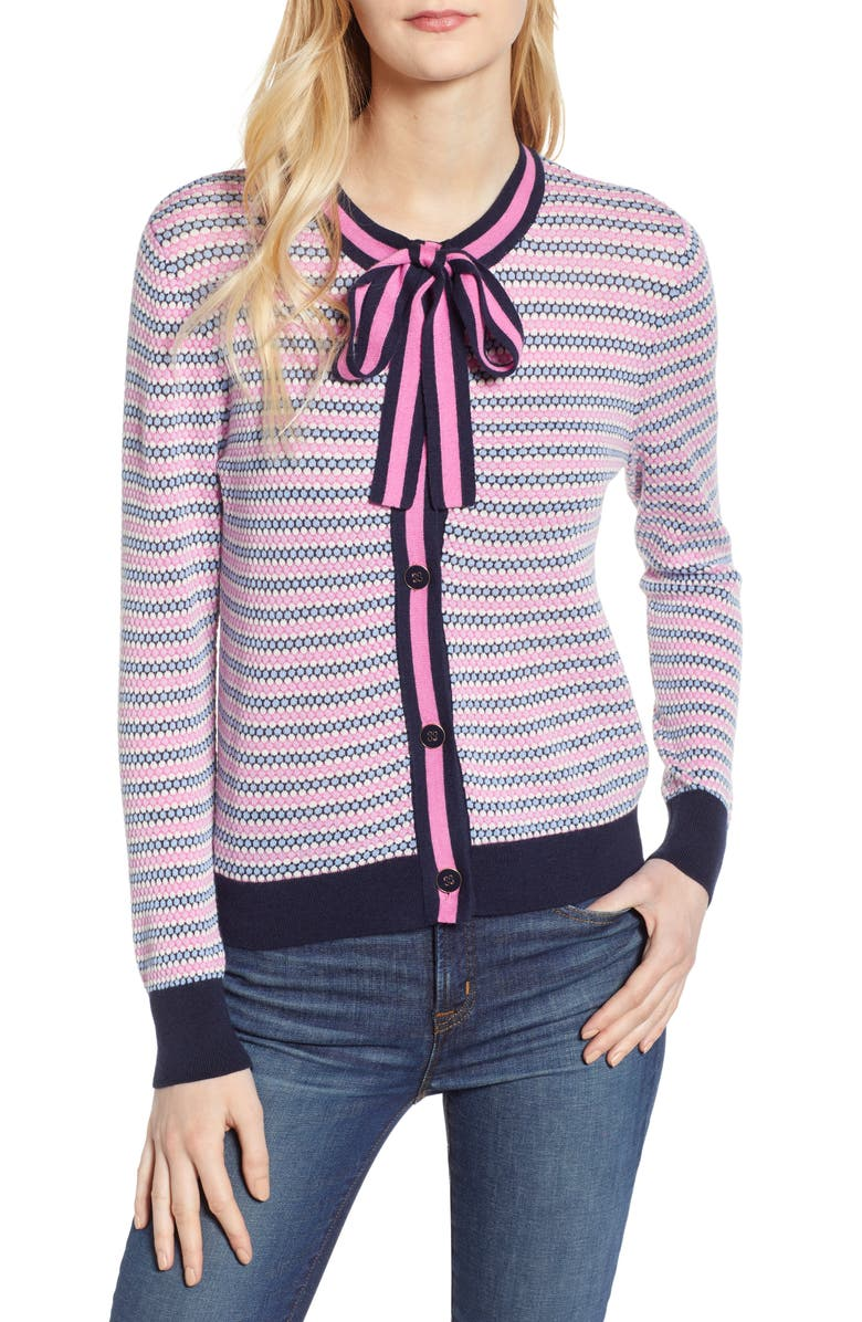 J.CREW Lady Cardigan, Main, color, NAVY FUCHSIA
