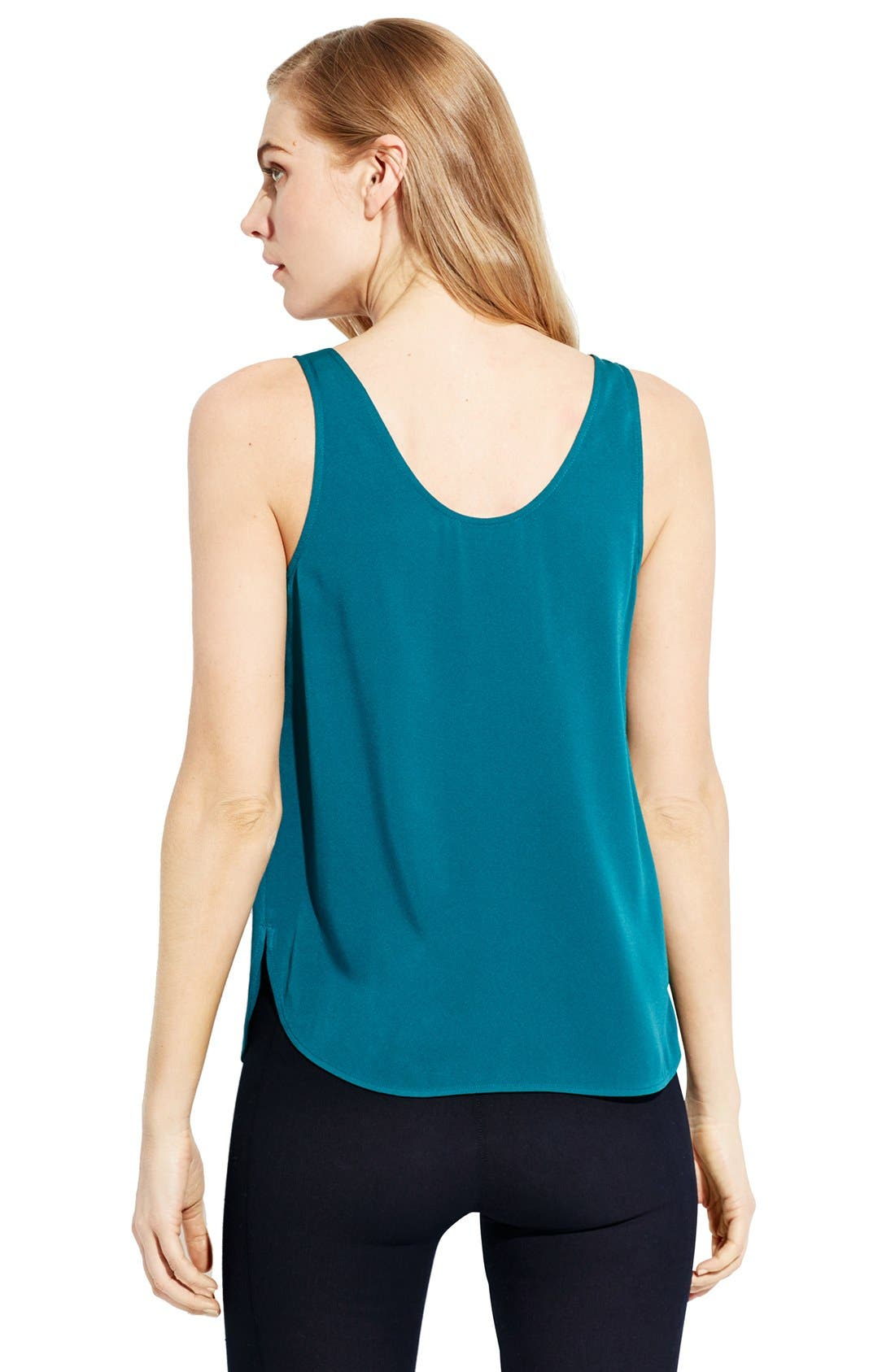 'The Scoop' Stretch Silk Tank,                             Alternate thumbnail 4, color,                             300