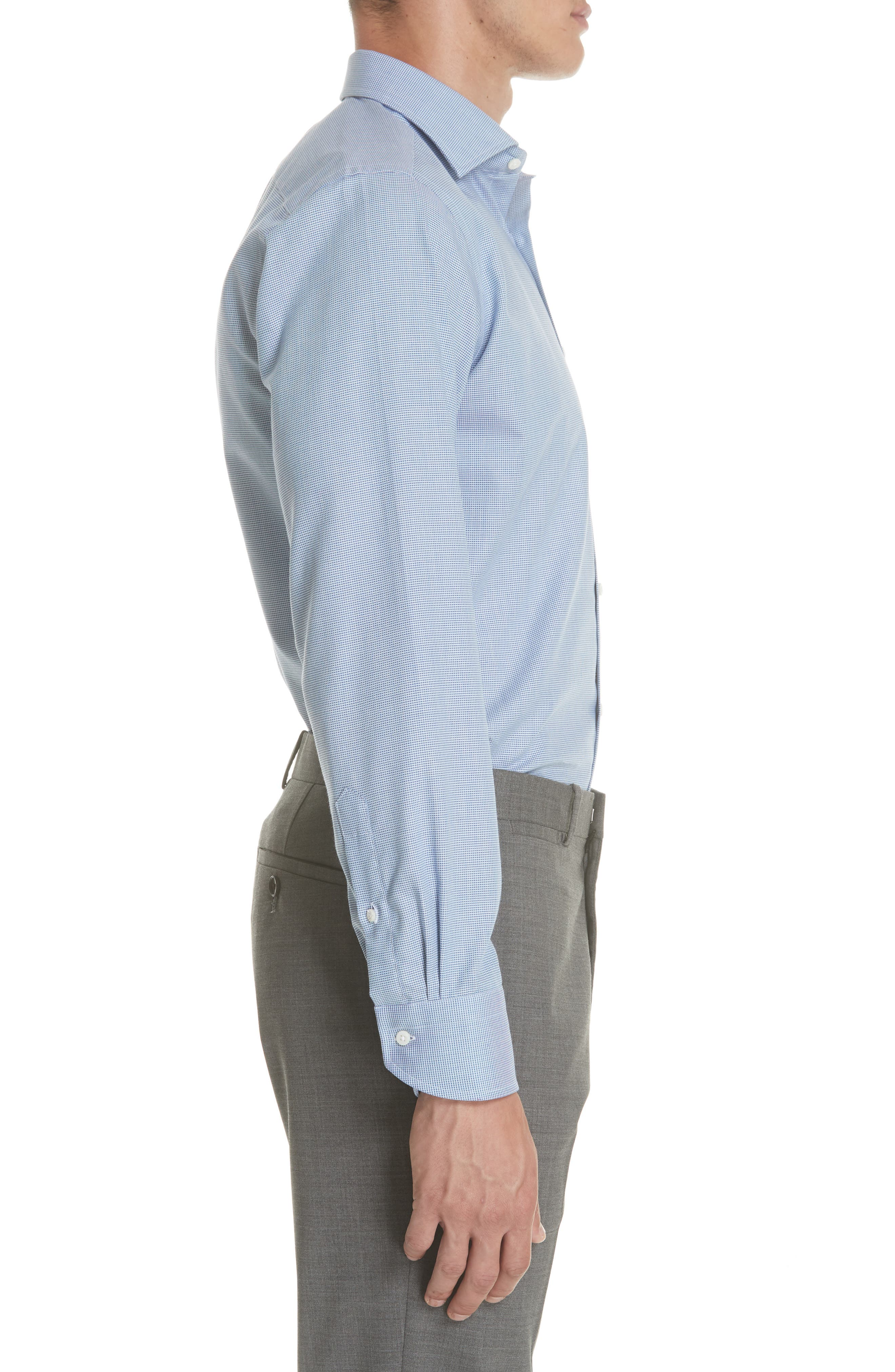 Regular Fit Solid Dress Shirt,                             Alternate thumbnail 4, color,                             401