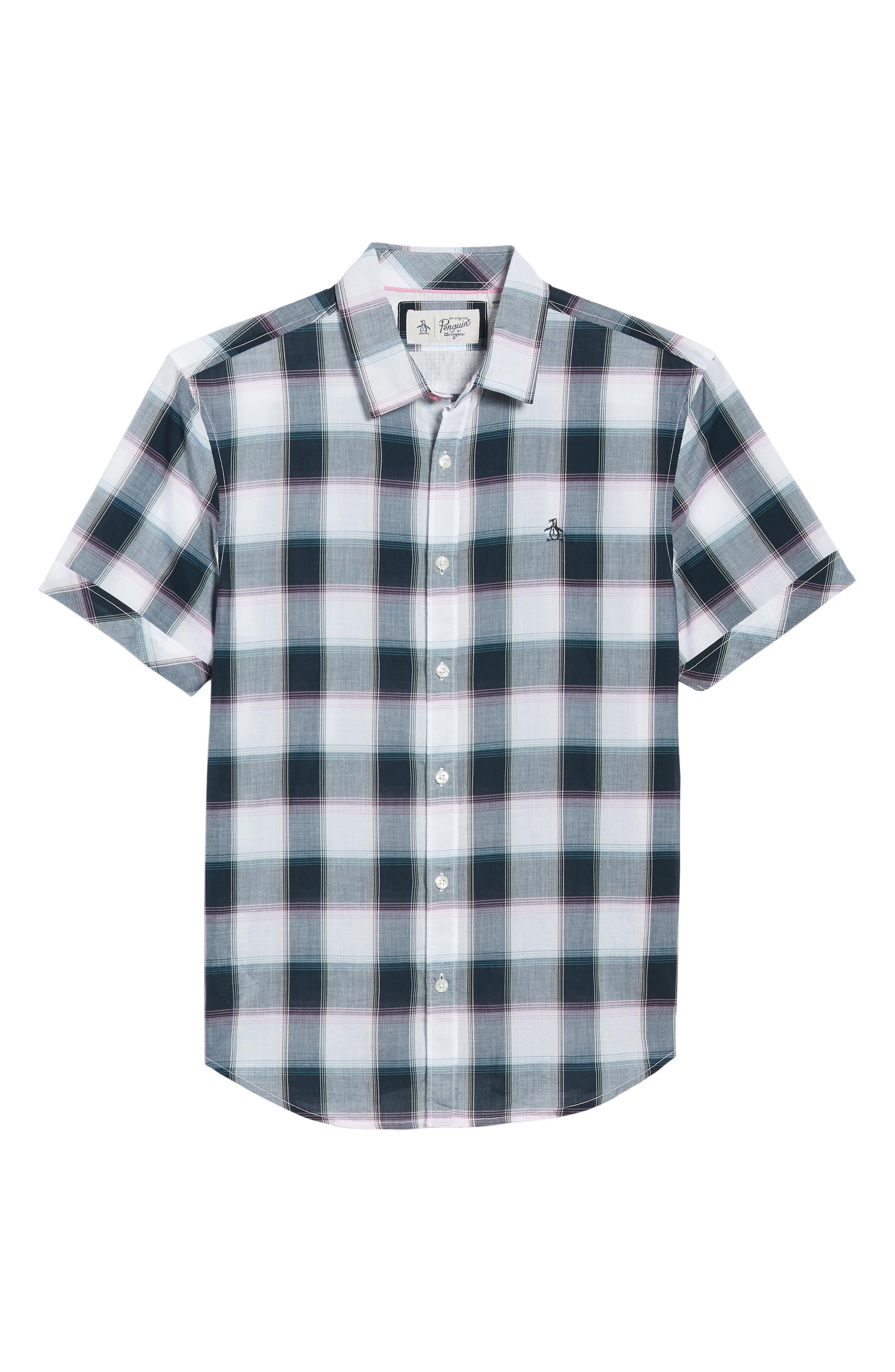 Plaid Cotton Lawn Shirt,                             Alternate thumbnail 6, color,                             023