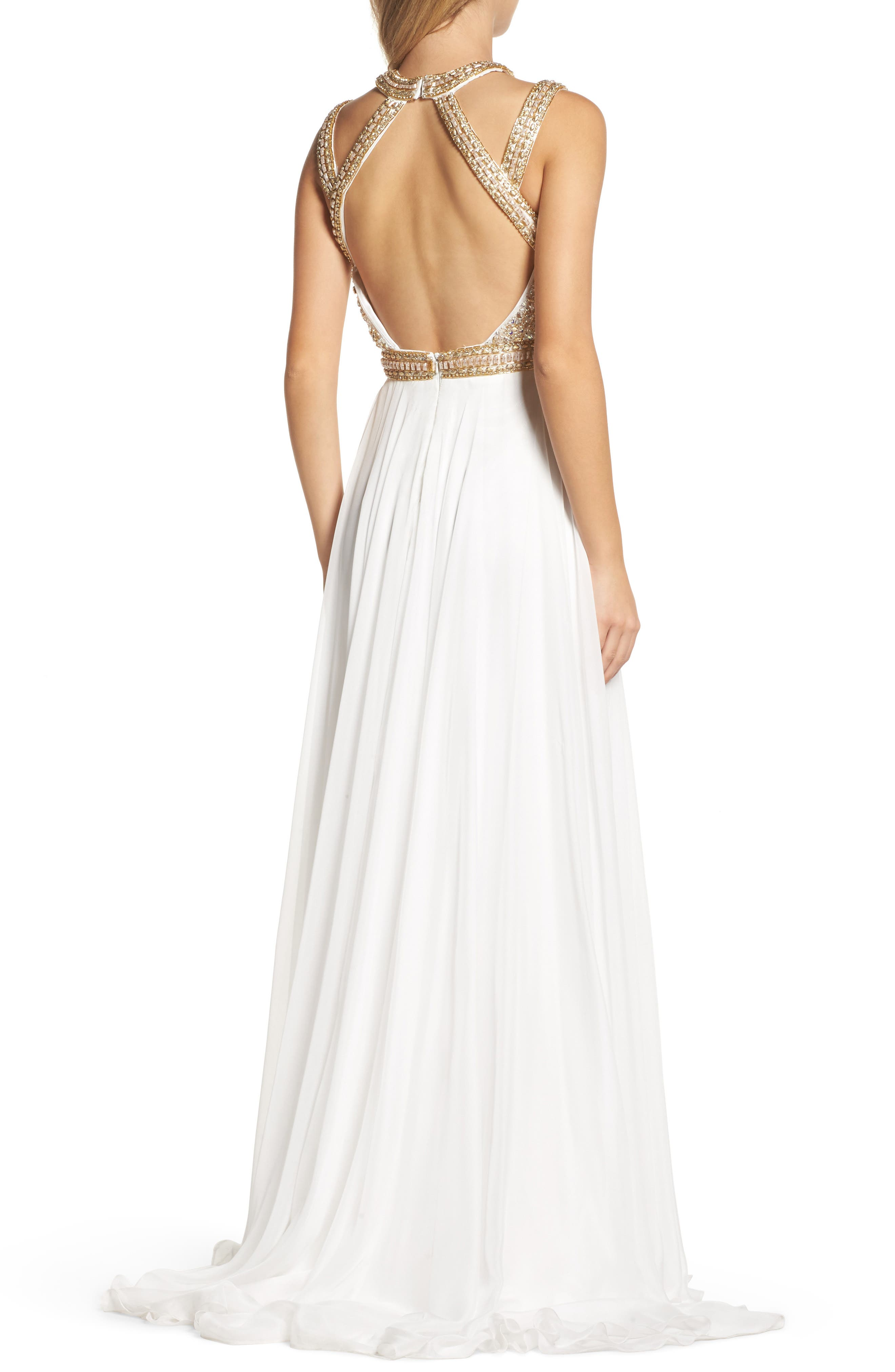 Beaded Cutout Bodice Gown,                             Alternate thumbnail 2, color,                             118