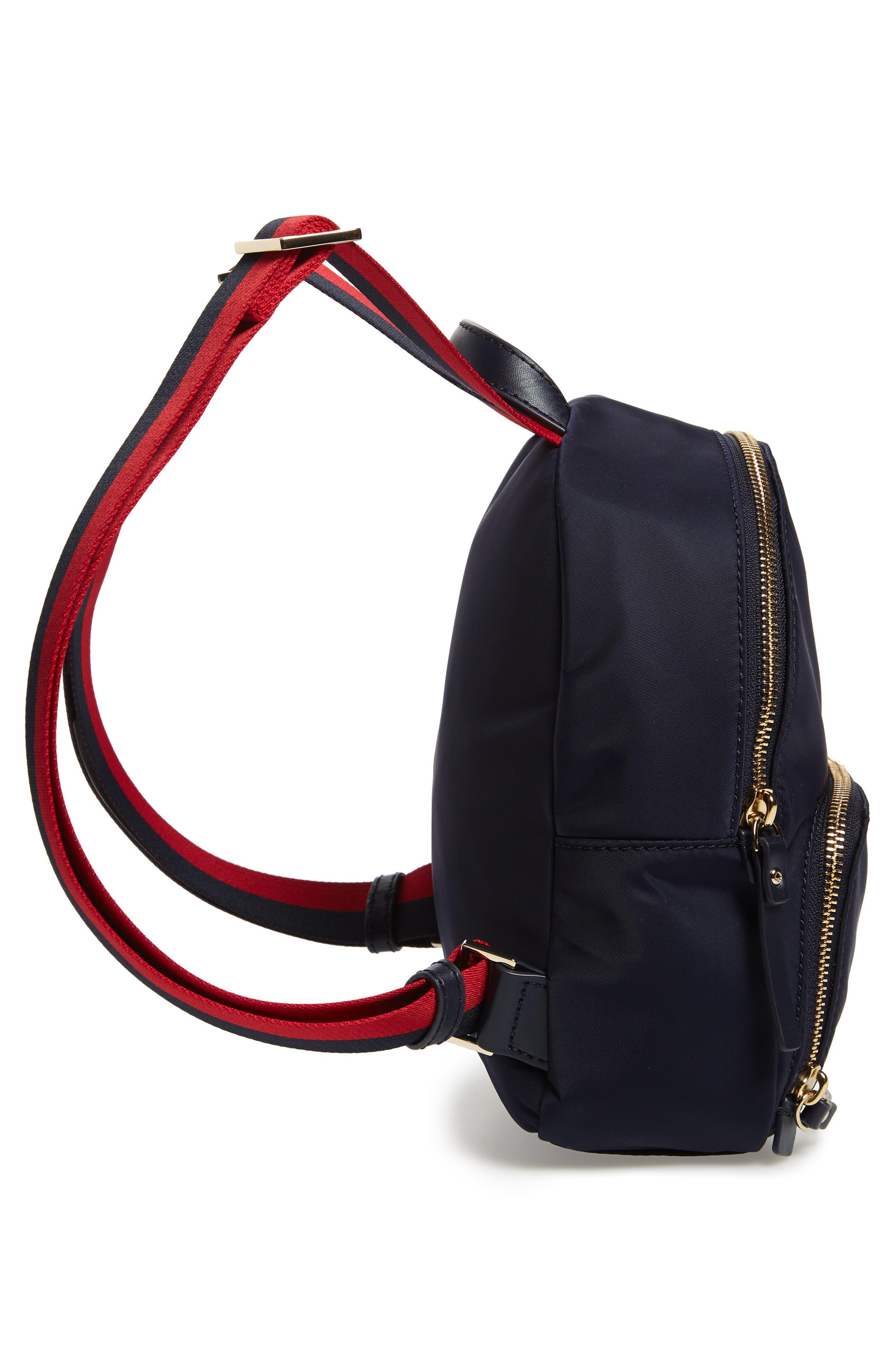 KATE SPADE NEW YORK,                             kate spade watson lane varsity stripe small backpack,                             Alternate thumbnail 5, color,                             400