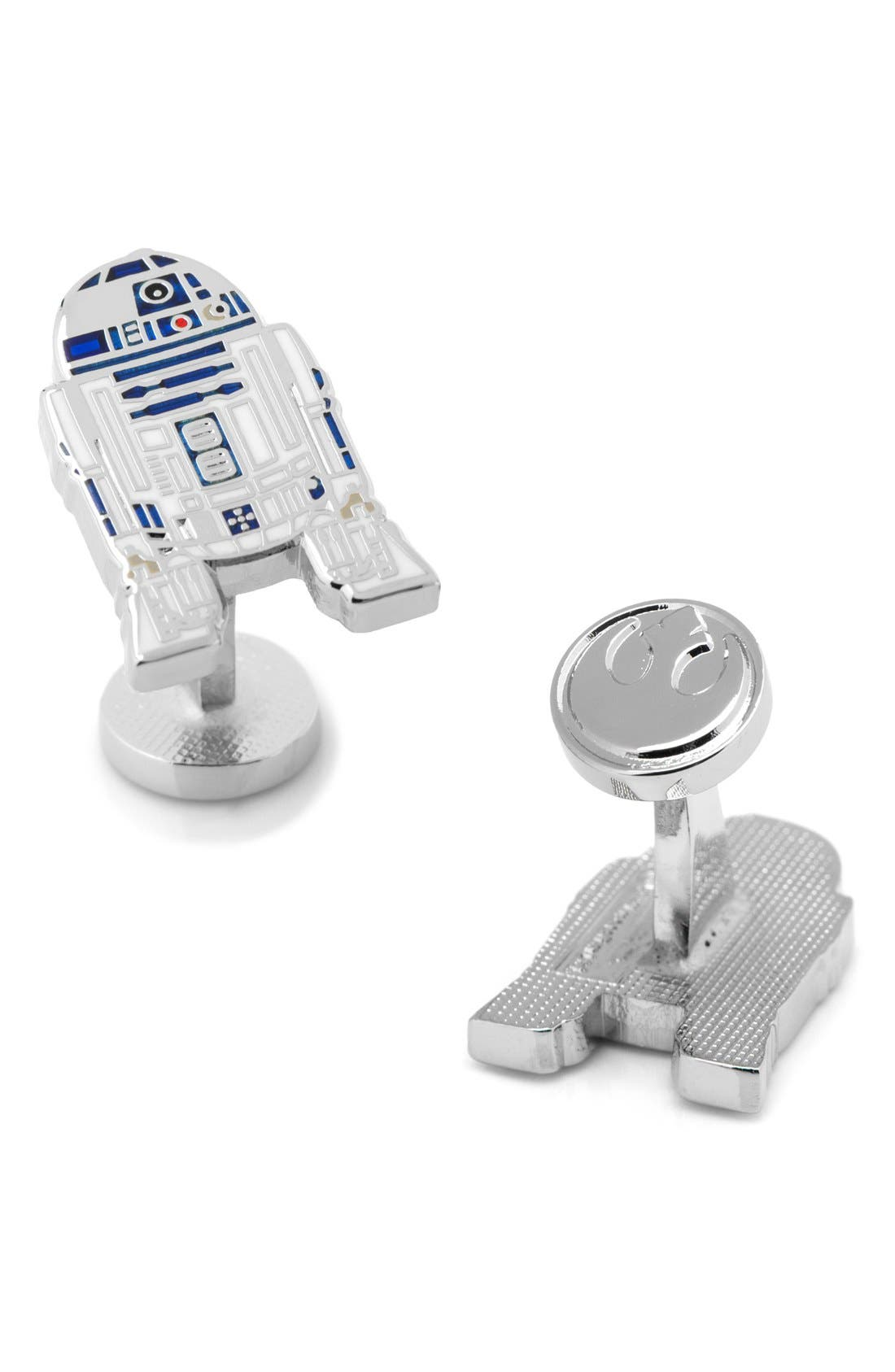 Star Wars R2D2 Cuff Links,                             Alternate thumbnail 2, color,                             GREY MULTI