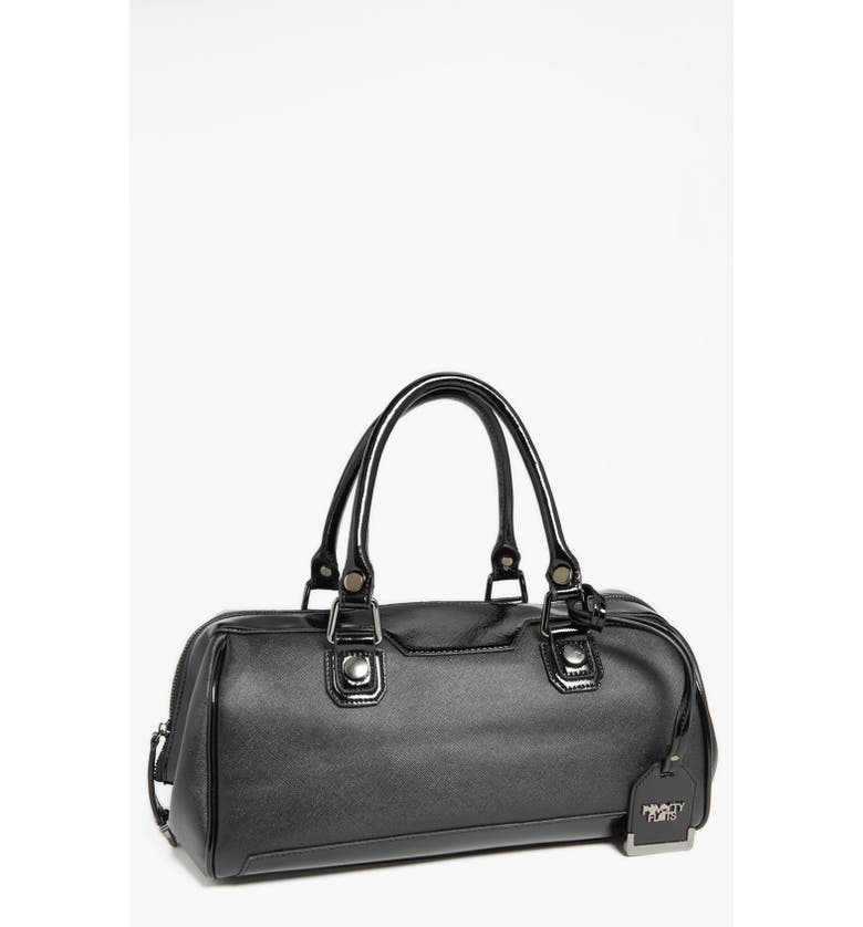4b0323dbe5 POVERTY FLATS by rian  Shiny   Matte  Faux Leather Satchel