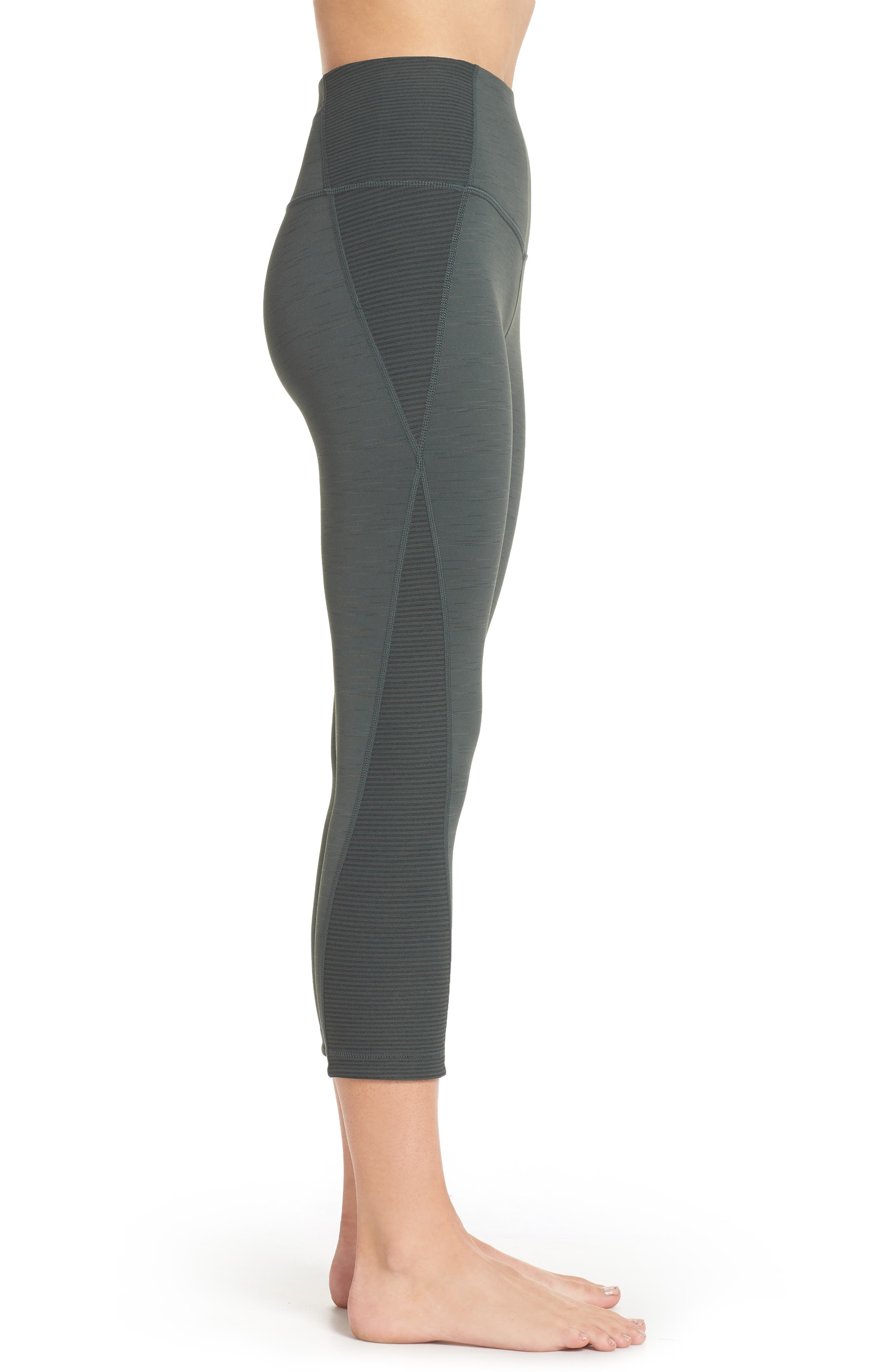Sporty Splice High Waist Crop Leggings,                             Alternate thumbnail 9, color,
