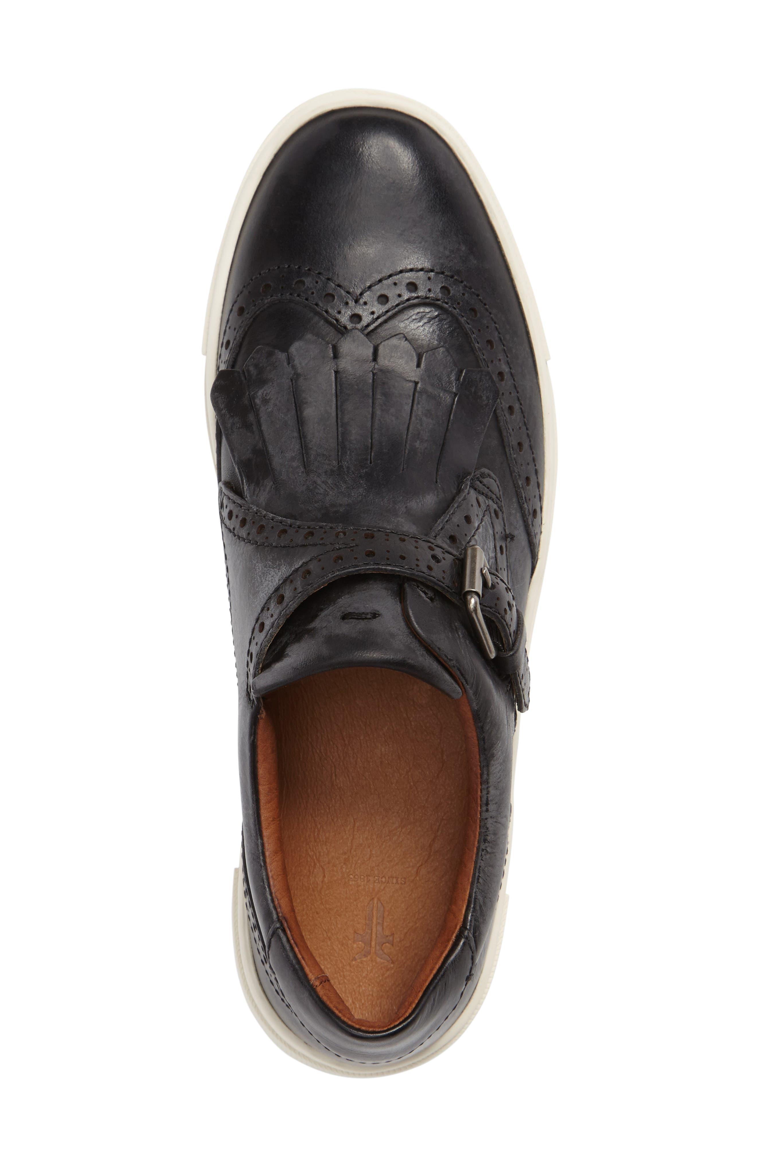 'Gemma' Kiltie Slip On-Sneaker,                             Alternate thumbnail 3, color,                             001