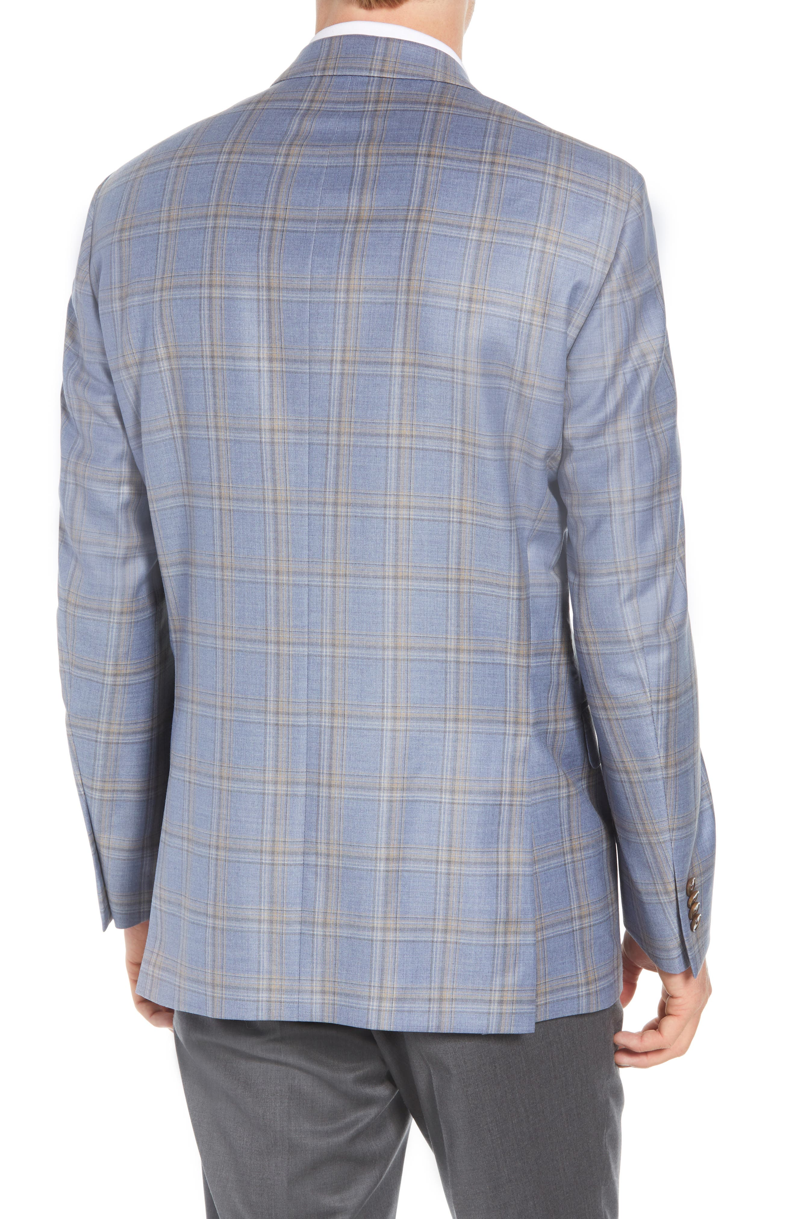 PETER MILLAR,                             Flynn Classic Fit Wool Sport Coat,                             Alternate thumbnail 2, color,                             LIGHT BLUE