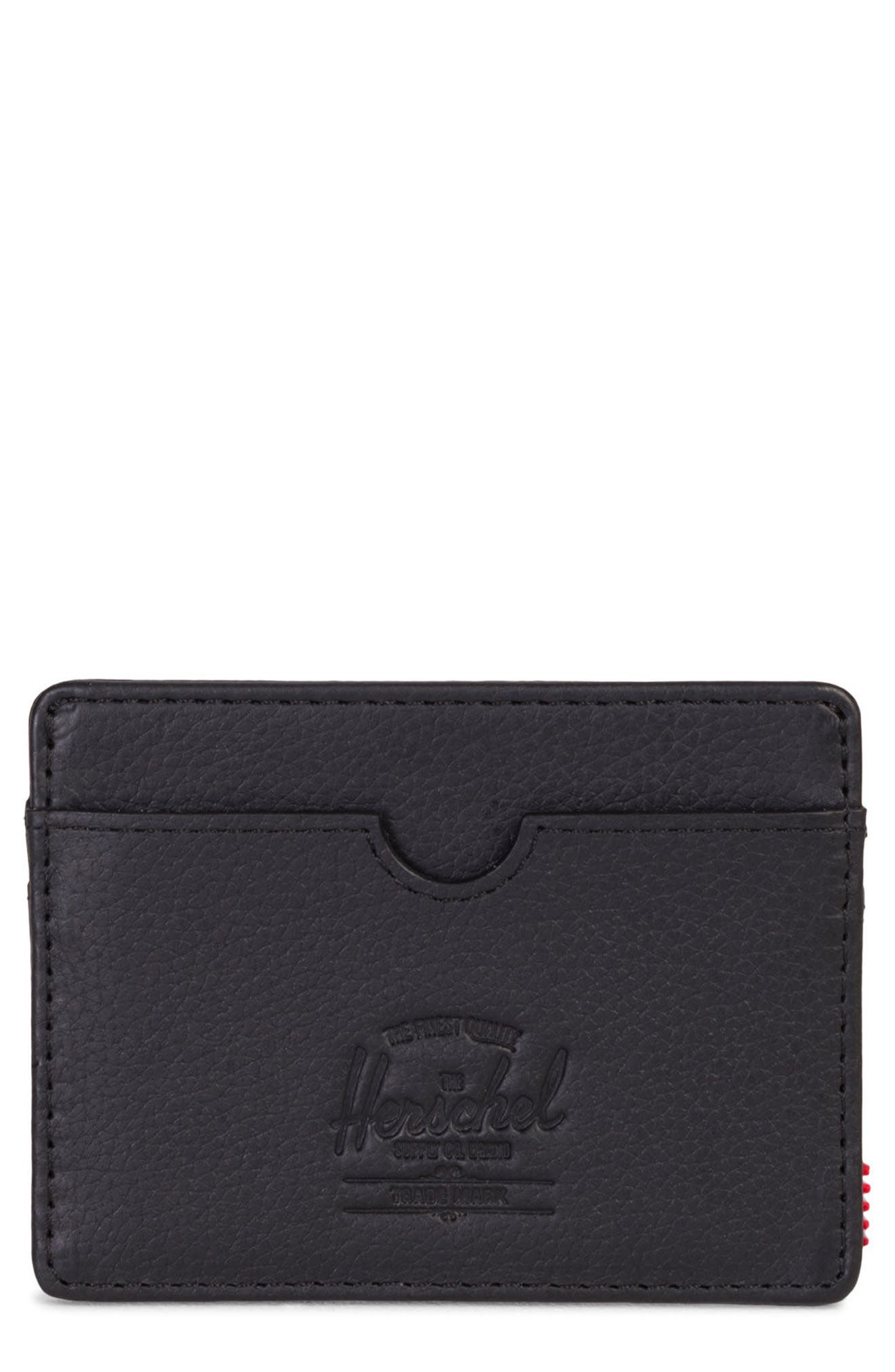 Charlie Leather Card Case,                             Main thumbnail 1, color,                             005