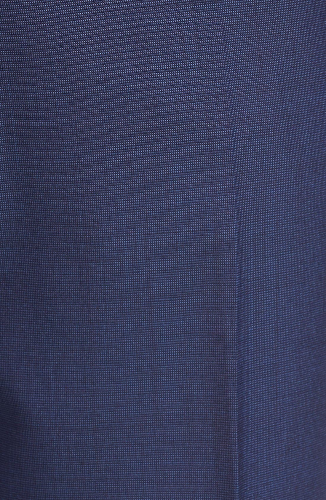 Jefferson Flat Front Solid Wool Trousers,                             Alternate thumbnail 11, color,                             BLUE