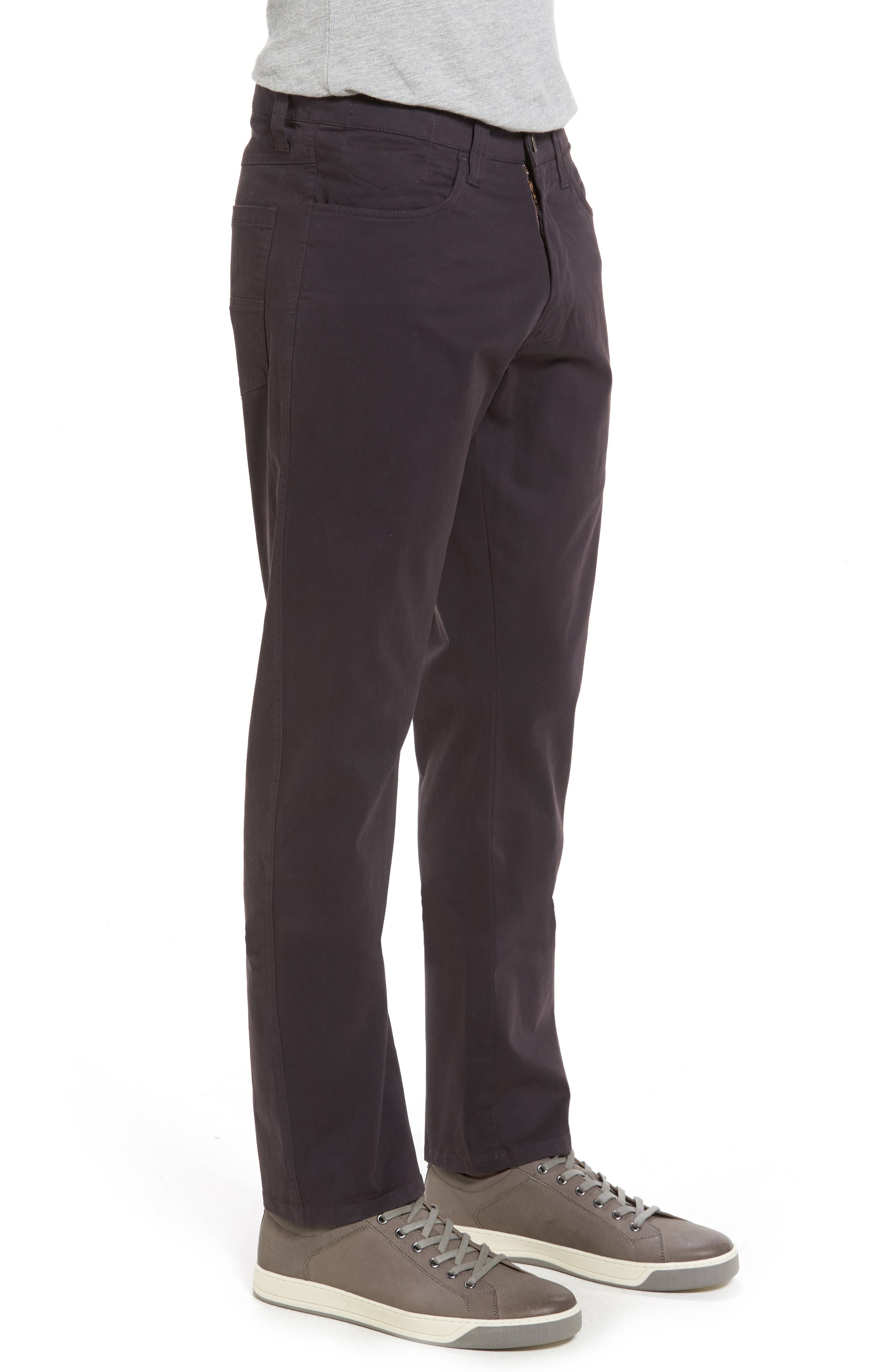 'Sunny' Slim Fit Stretch Twill Pants,                             Alternate thumbnail 3, color,                             NINE IRON