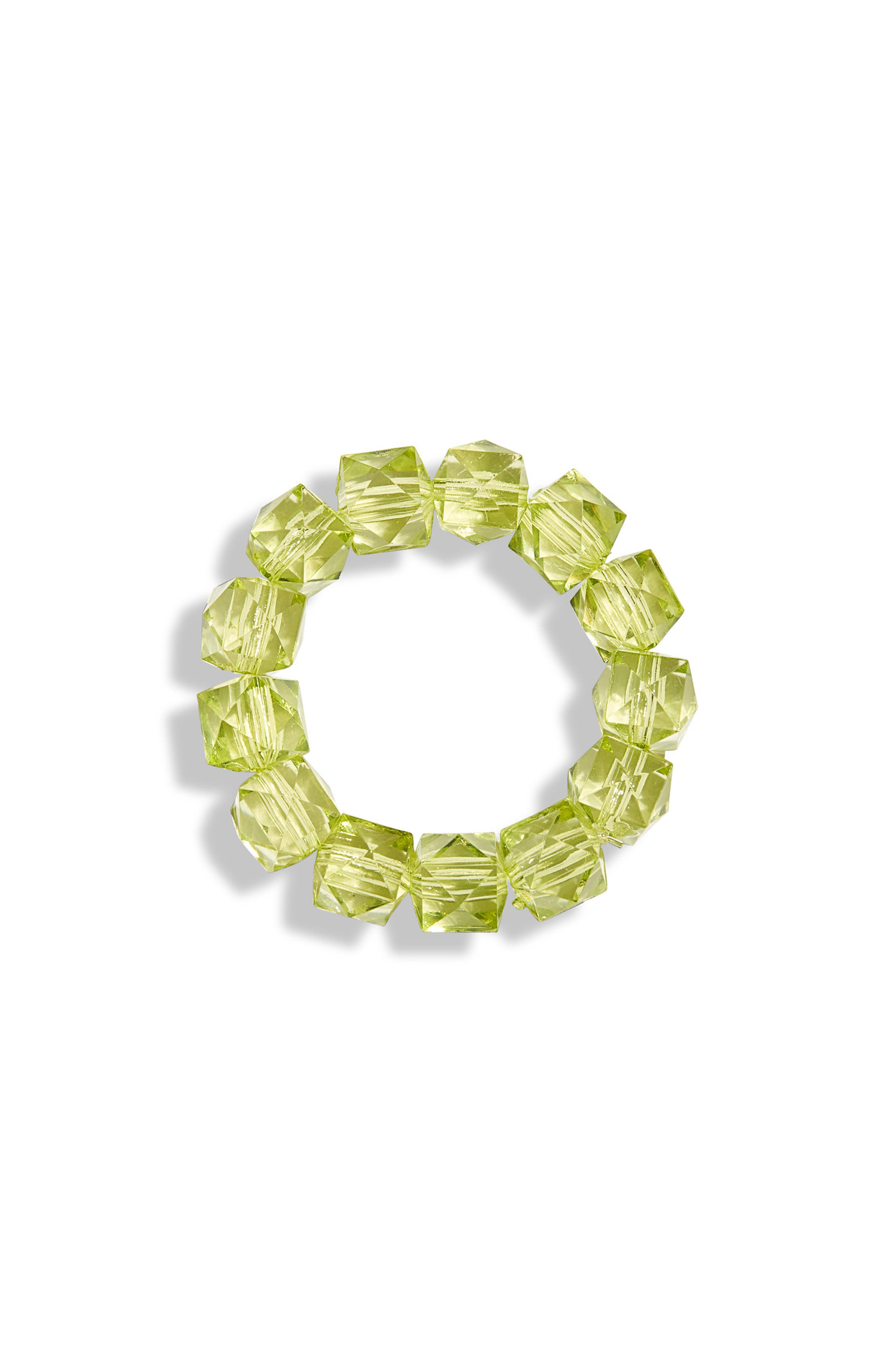 Jewels Solid Rock Candy Bracelet,                             Main thumbnail 1, color,                             GREEN