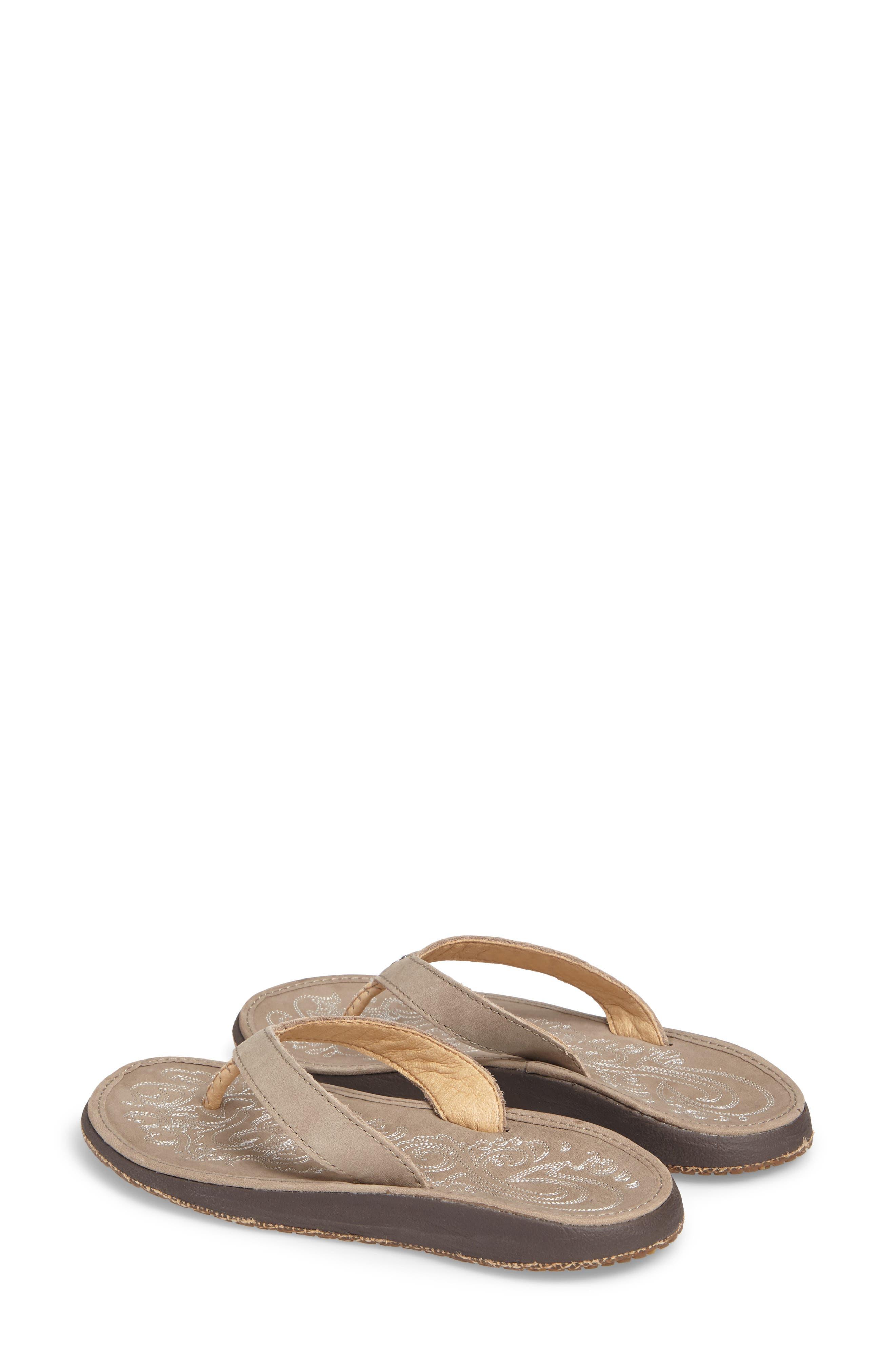 OLUKAI,                             'Paniolo' Thong Sandal,                             Alternate thumbnail 2, color,                             TAUPE/ TAUPE LEATHER
