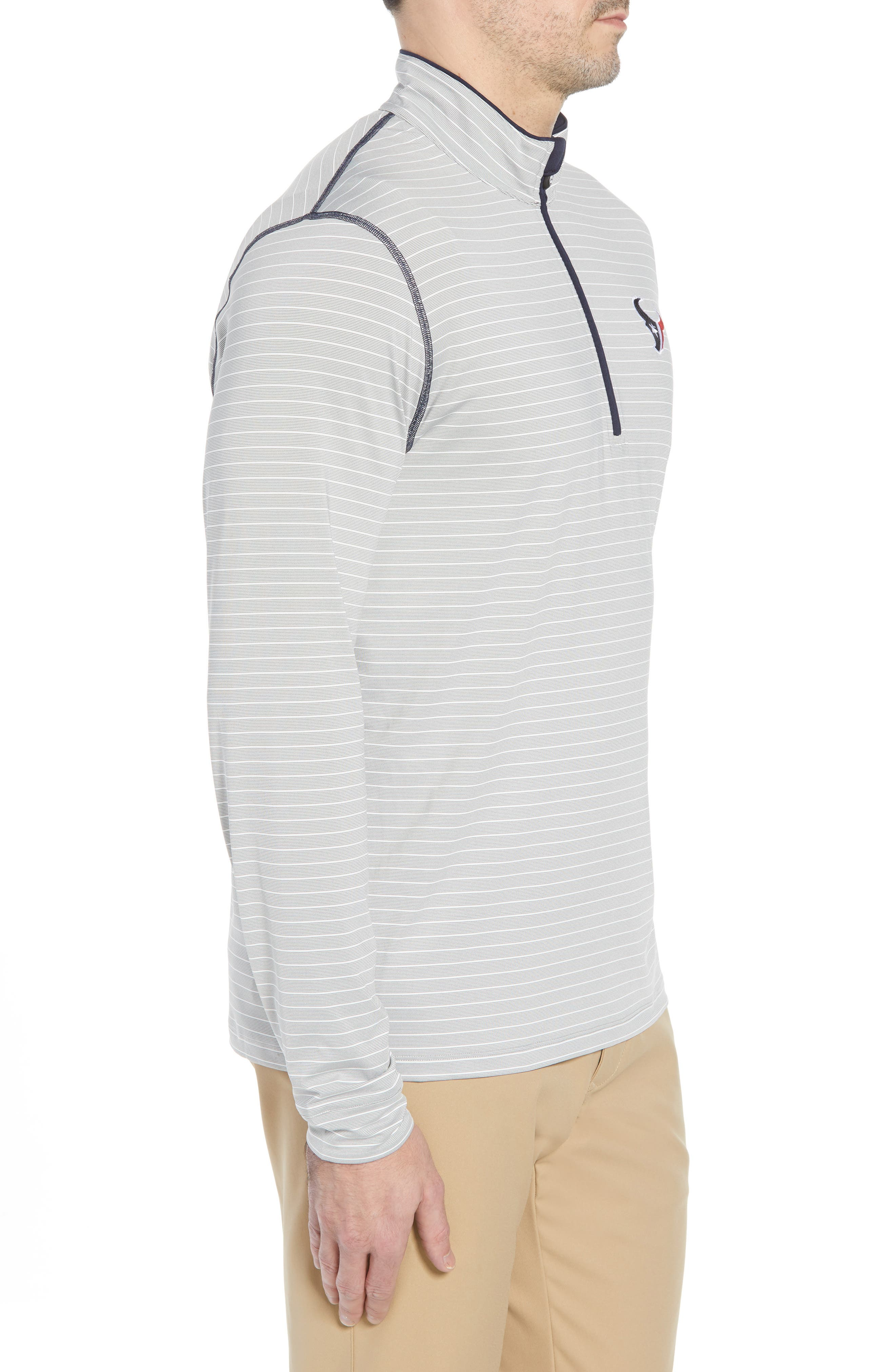 Meridian - Houston Texans Regular Fit Half Zip Pullover,                             Alternate thumbnail 3, color,                             NAVY