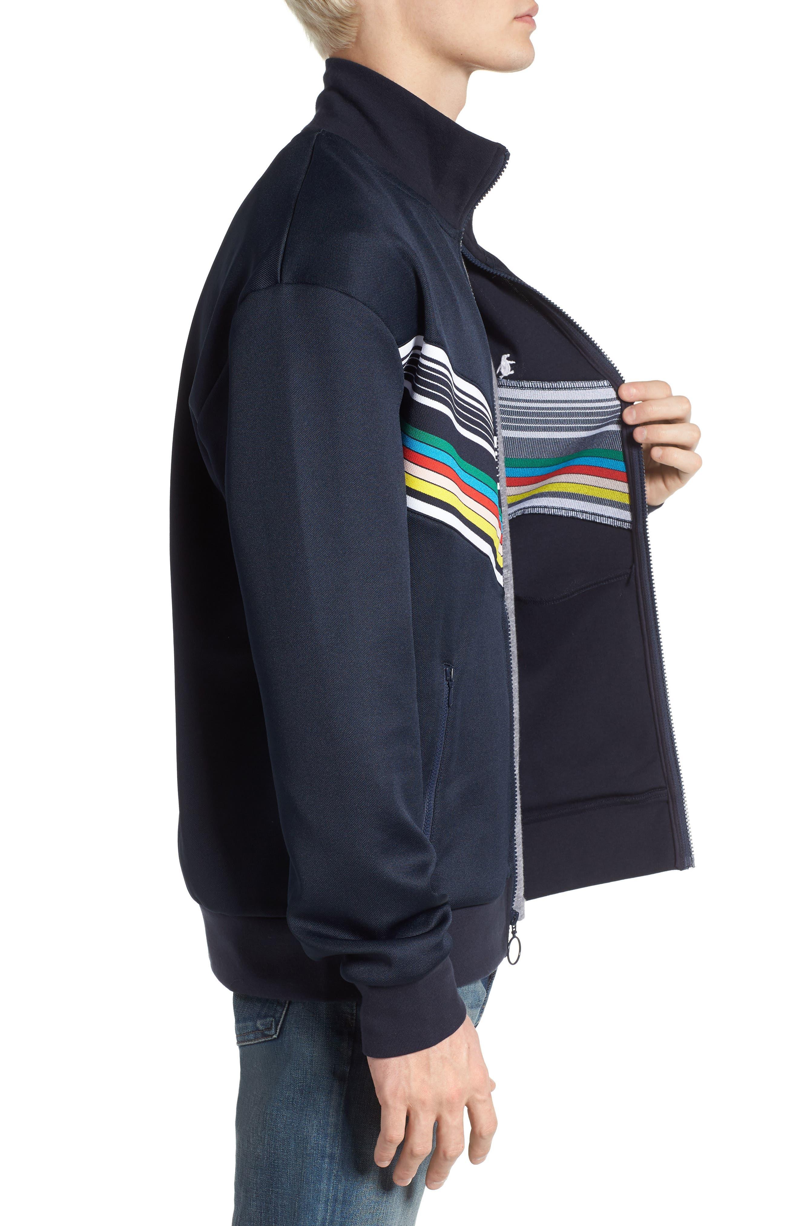 Stripe Track Jacket,                             Alternate thumbnail 3, color,                             413