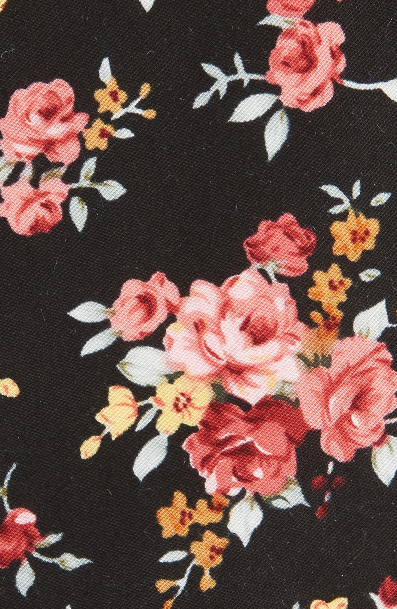 Knapp Floral Cotton Tie,                             Alternate thumbnail 2, color,                             001