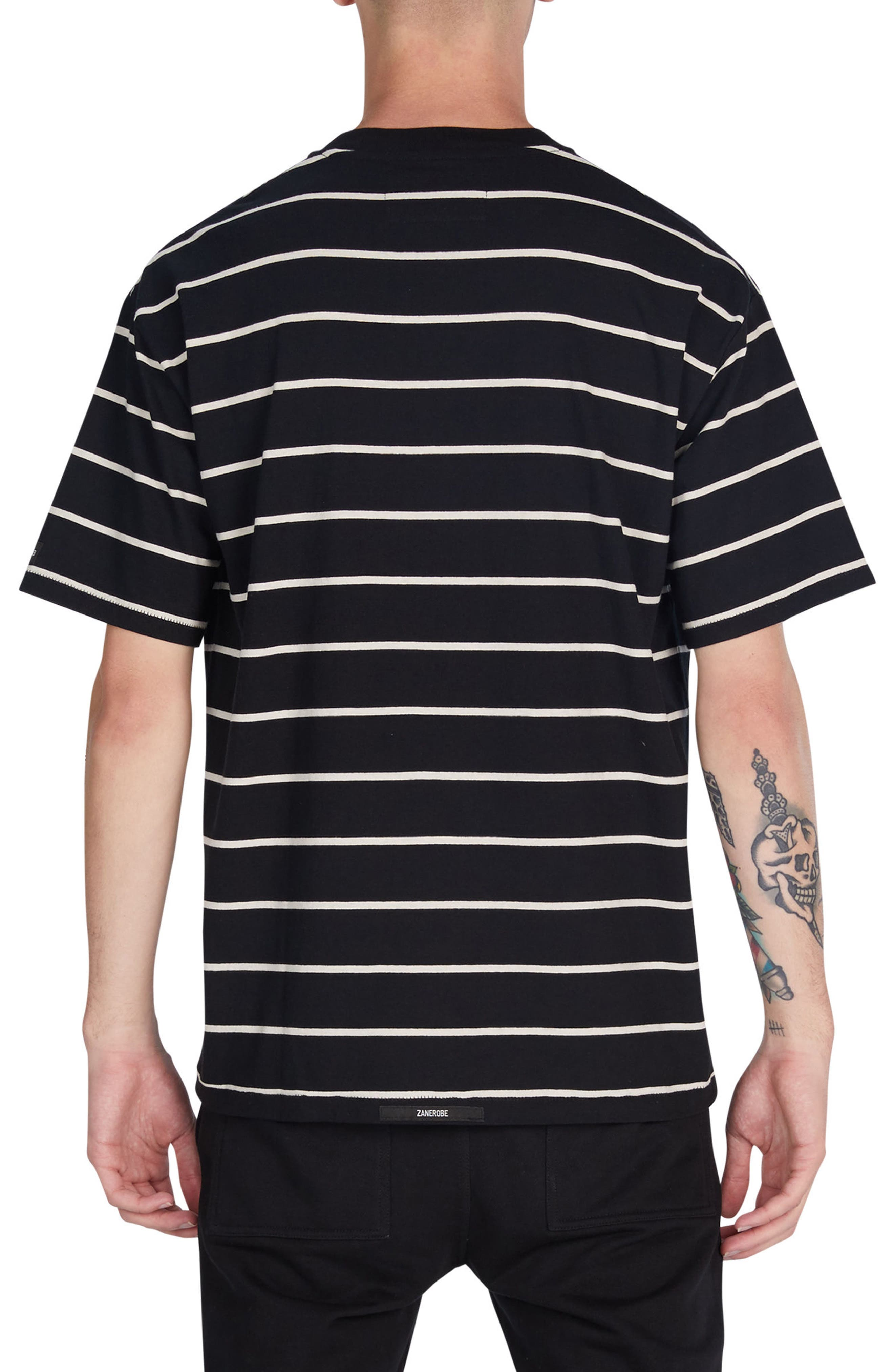 Box Stripes T-Shirt,                             Alternate thumbnail 2, color,                             001