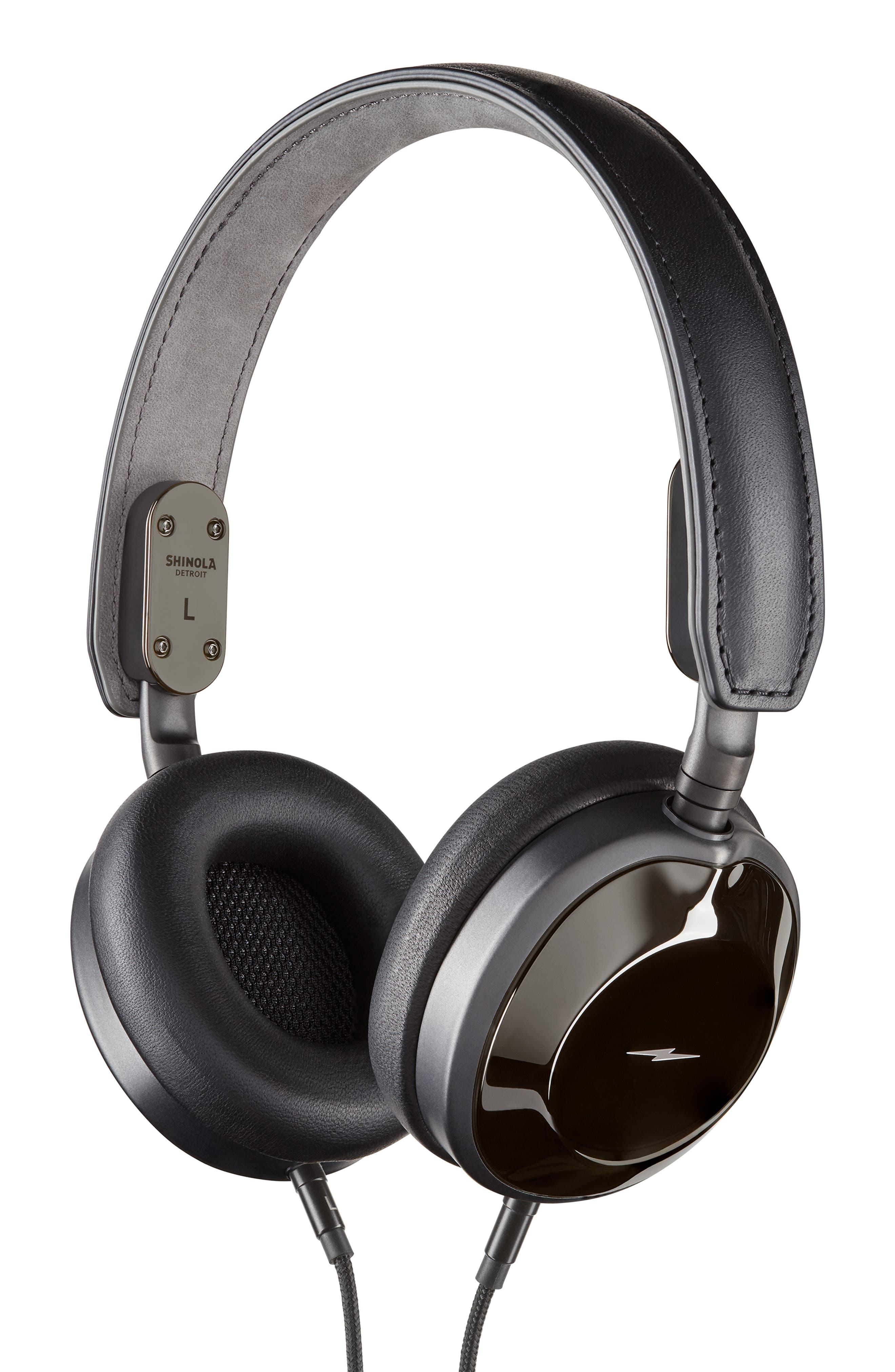 Canfield On-Ear Headphones,                             Main thumbnail 1, color,                             GLOSS BLACK