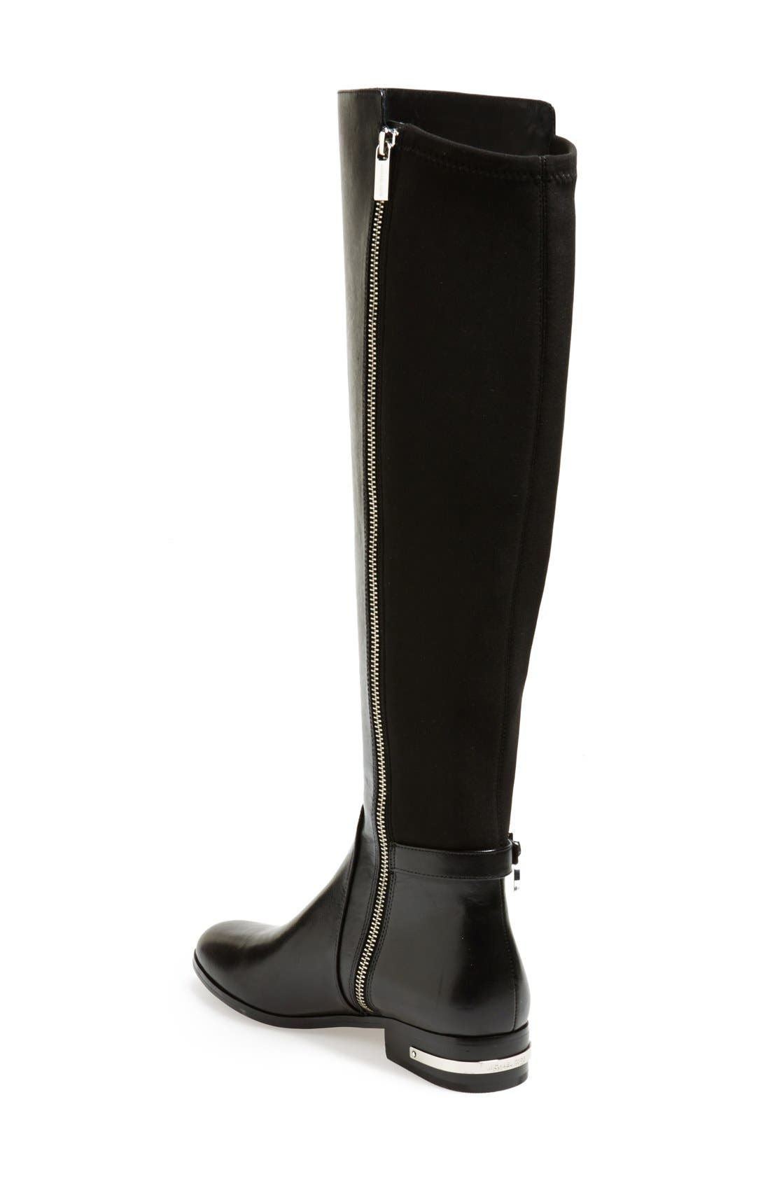 'Aileen' Leather Boot,                             Alternate thumbnail 4, color,                             001