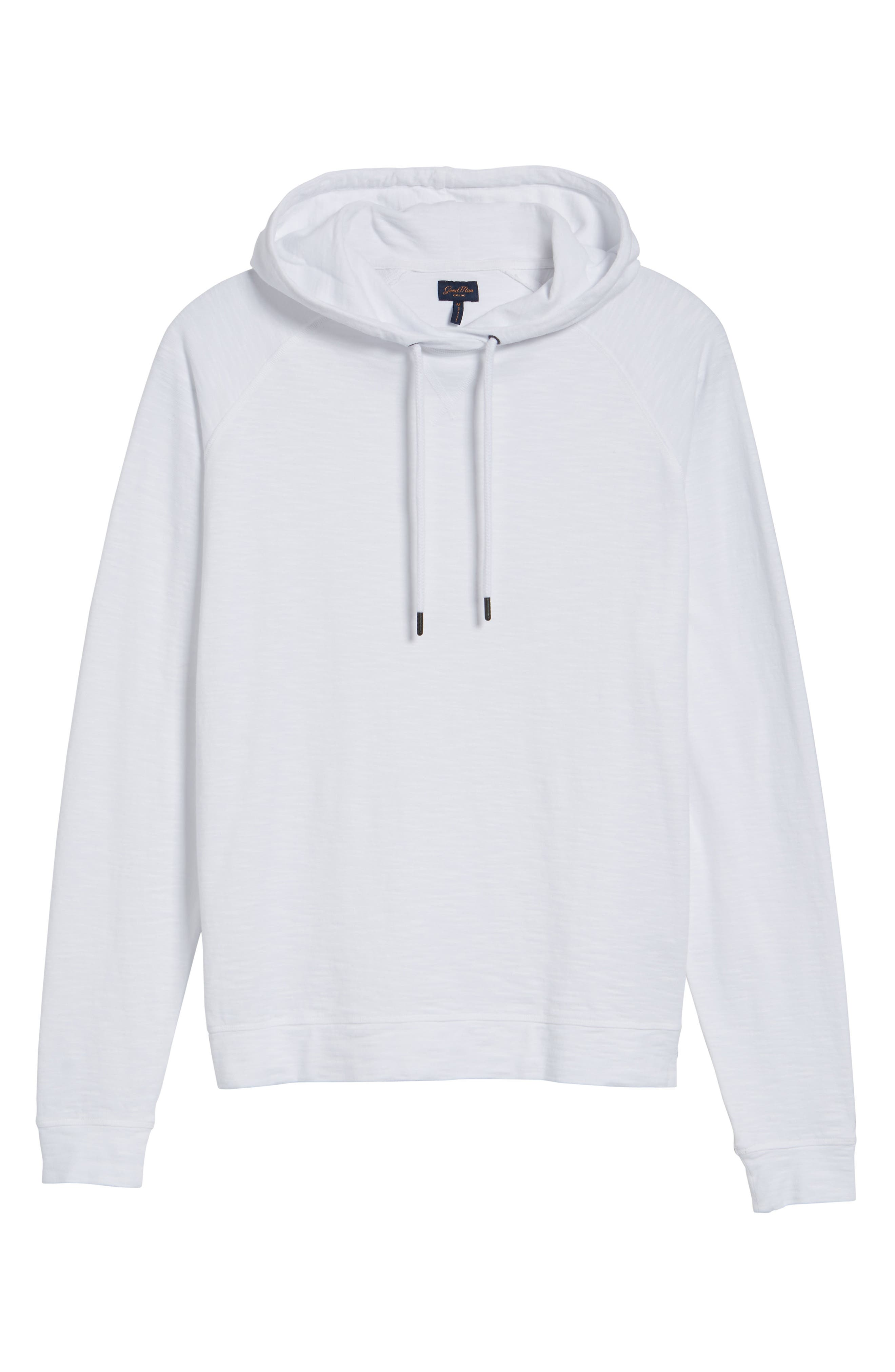 Trim Fit Pullover Hoodie,                             Alternate thumbnail 6, color,                             100