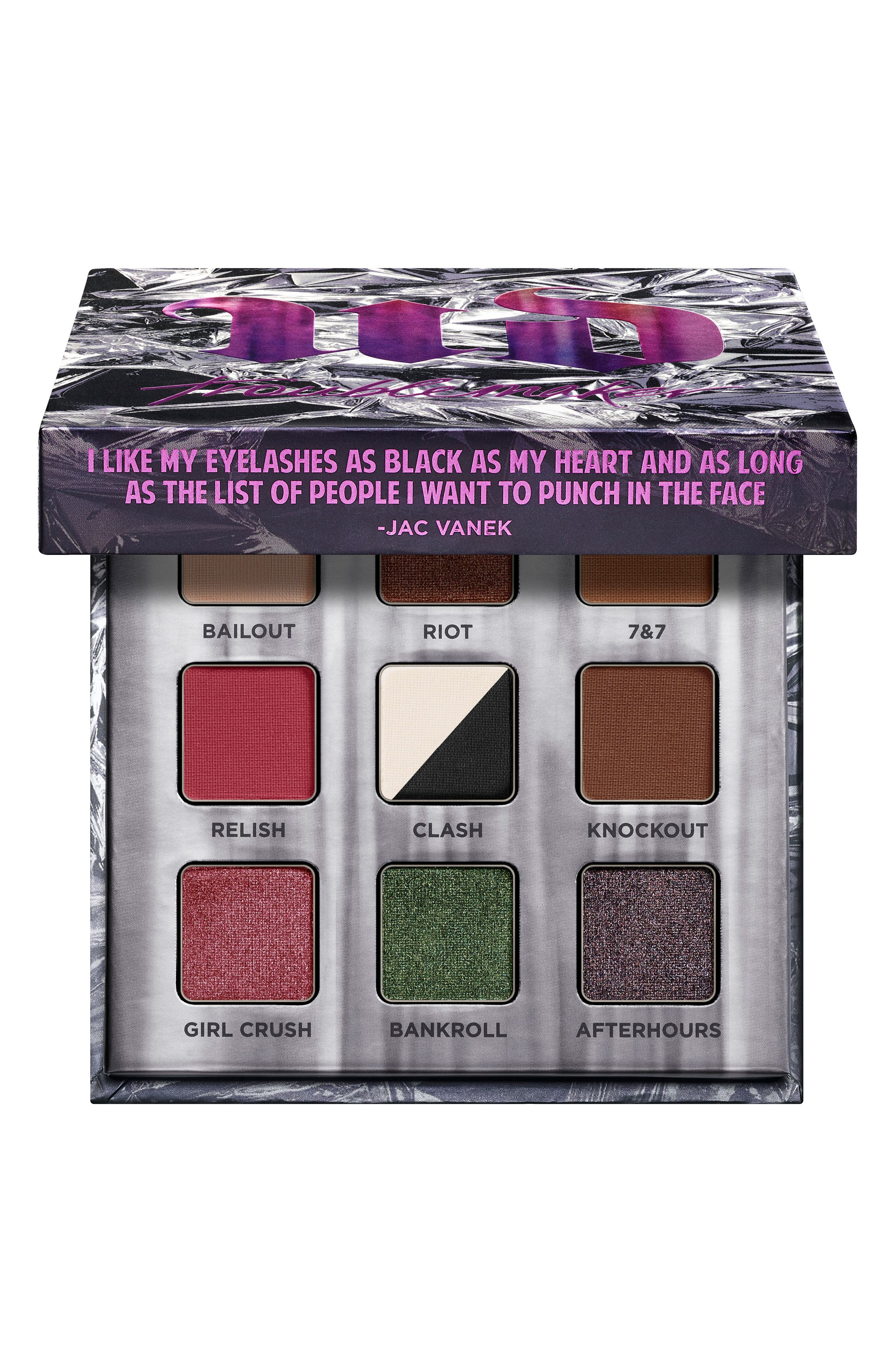 Troublemaker Eyeshadow Palette,                             Alternate thumbnail 5, color,                             000