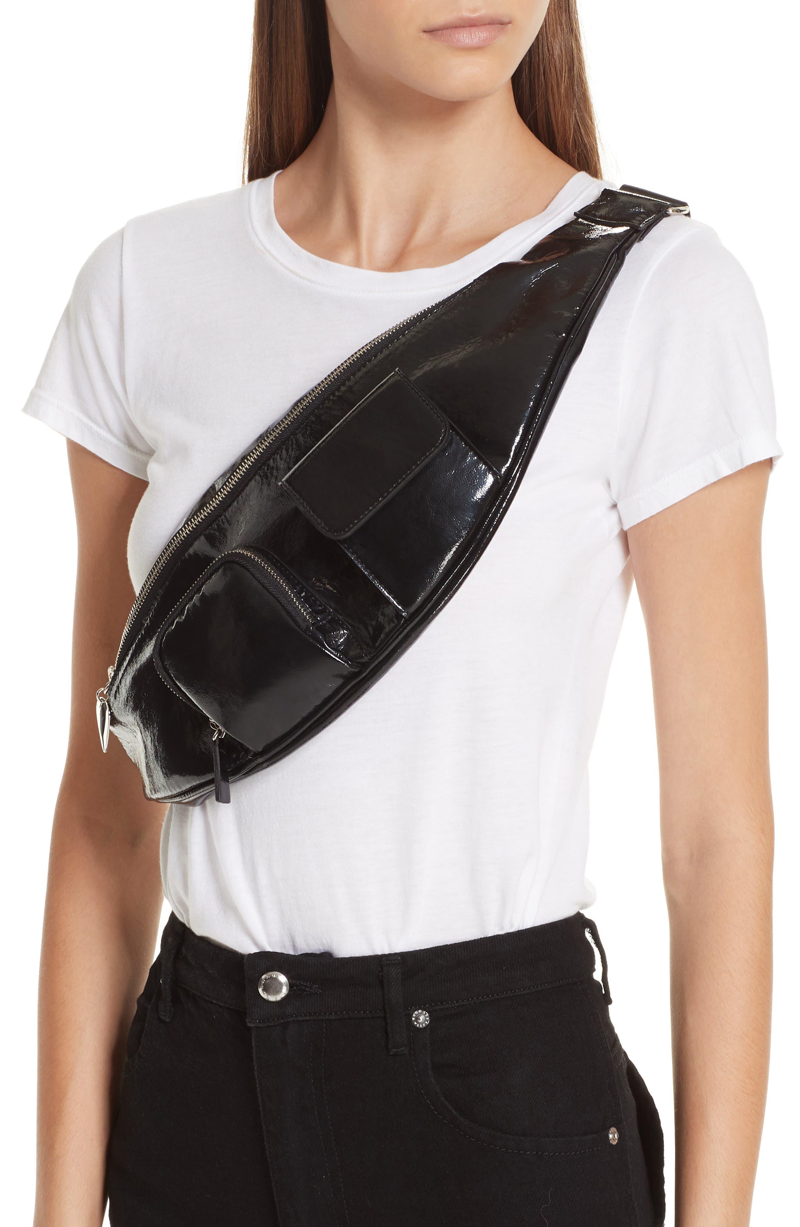 Major Convertible Belt Bag,                             Alternate thumbnail 2, color,                             BLACK PATENT