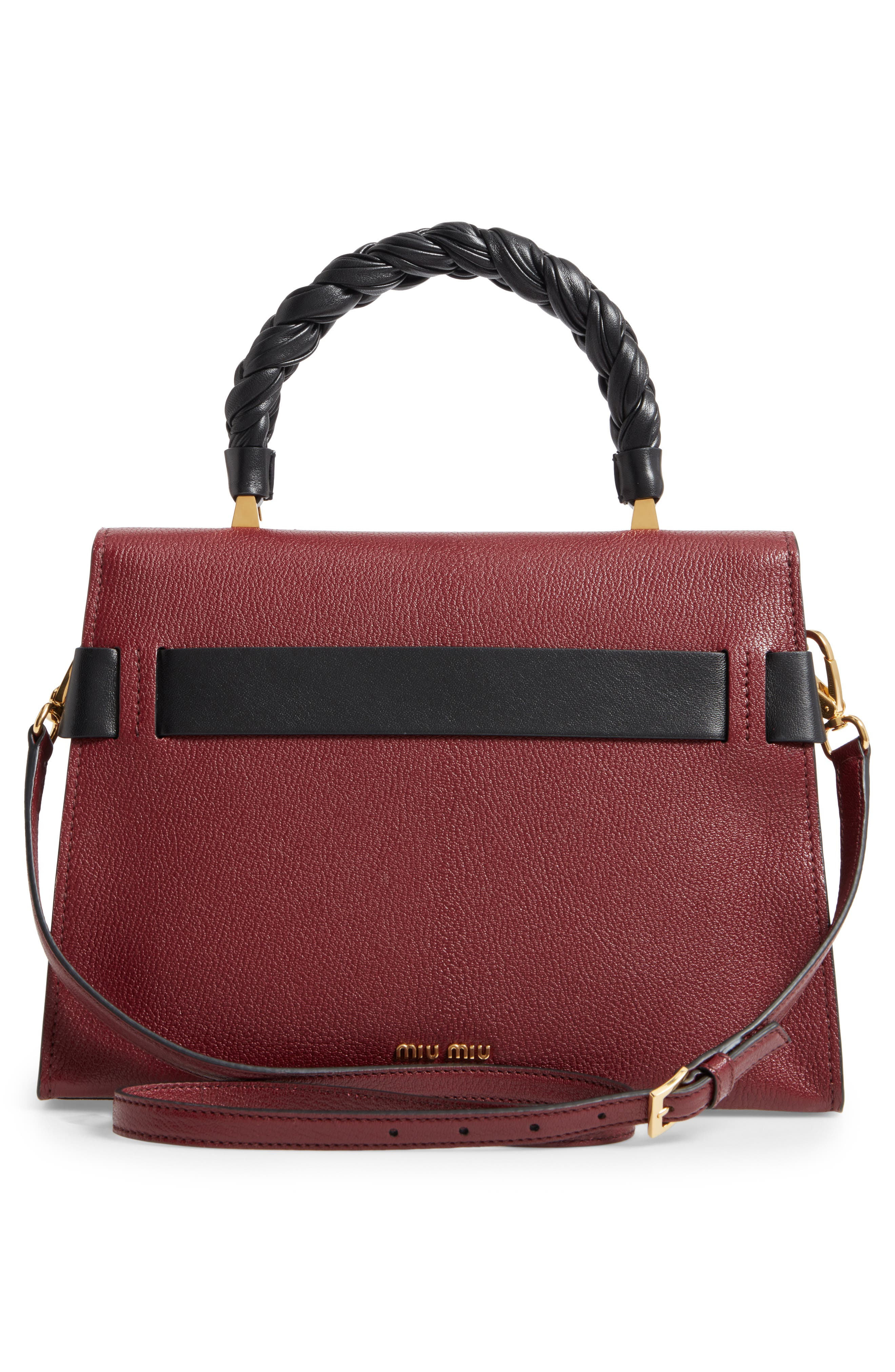 Madras Click Goatskin Leather Satchel,                             Alternate thumbnail 3, color,                             930