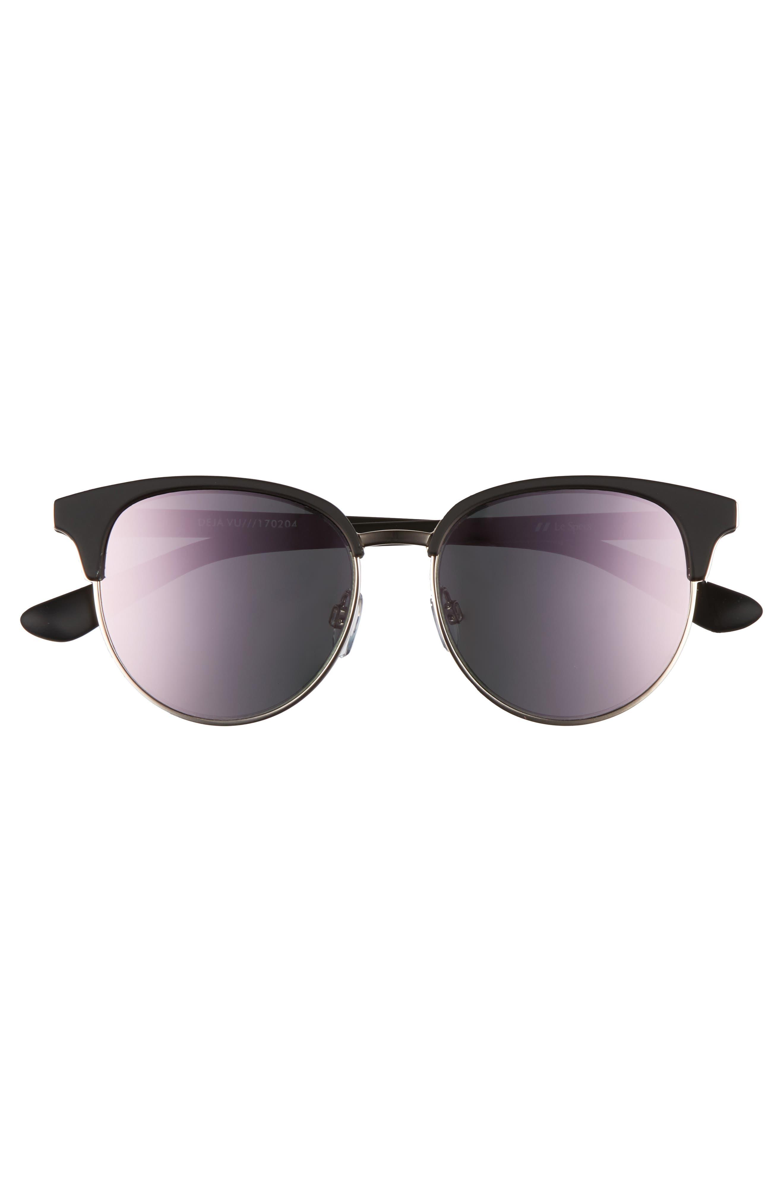 Deja Vu 51mm Round Sunglasses,                             Alternate thumbnail 3, color,                             001