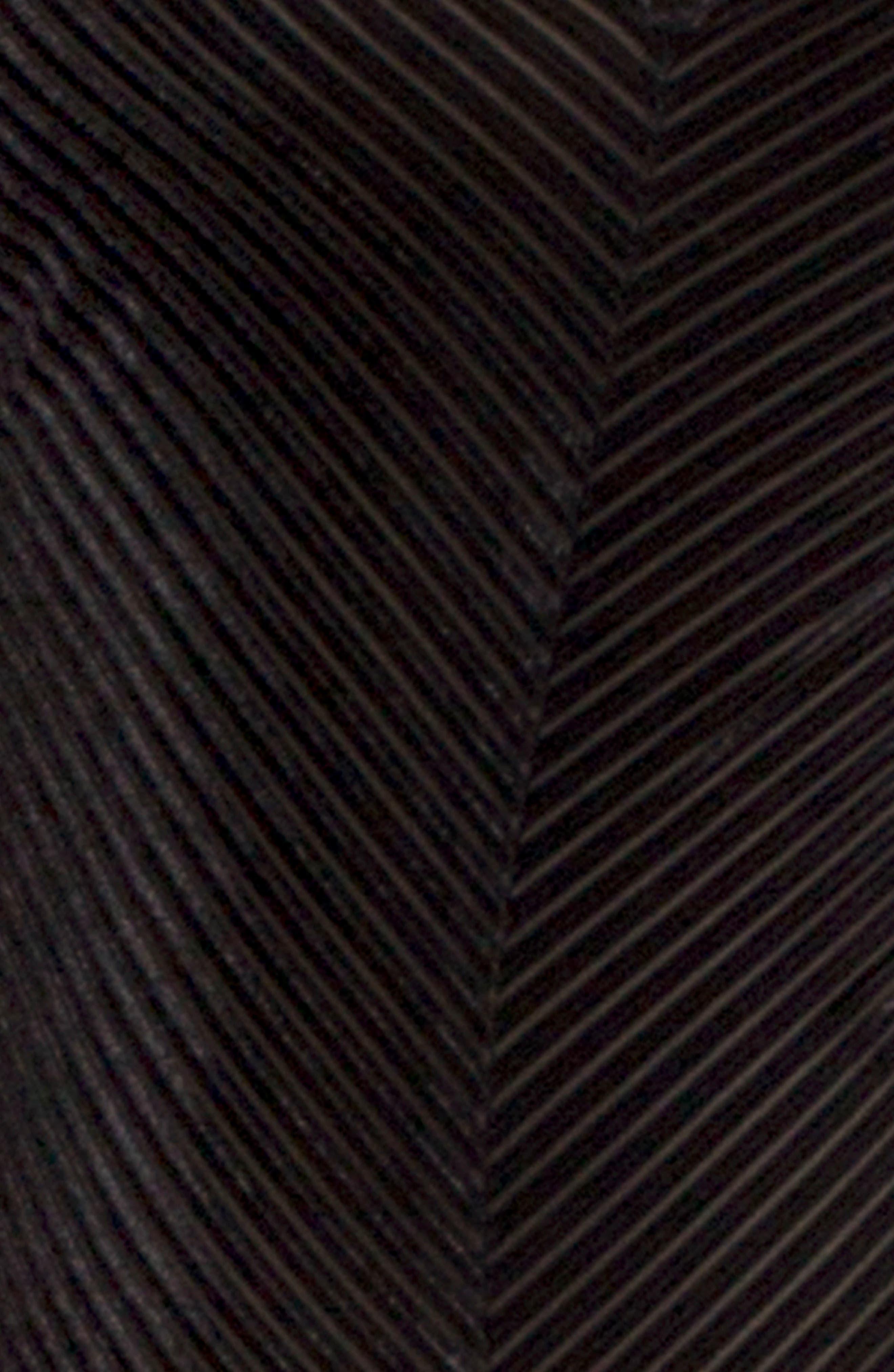 Velvet Thong Bodysuit,                             Alternate thumbnail 5, color,                             001