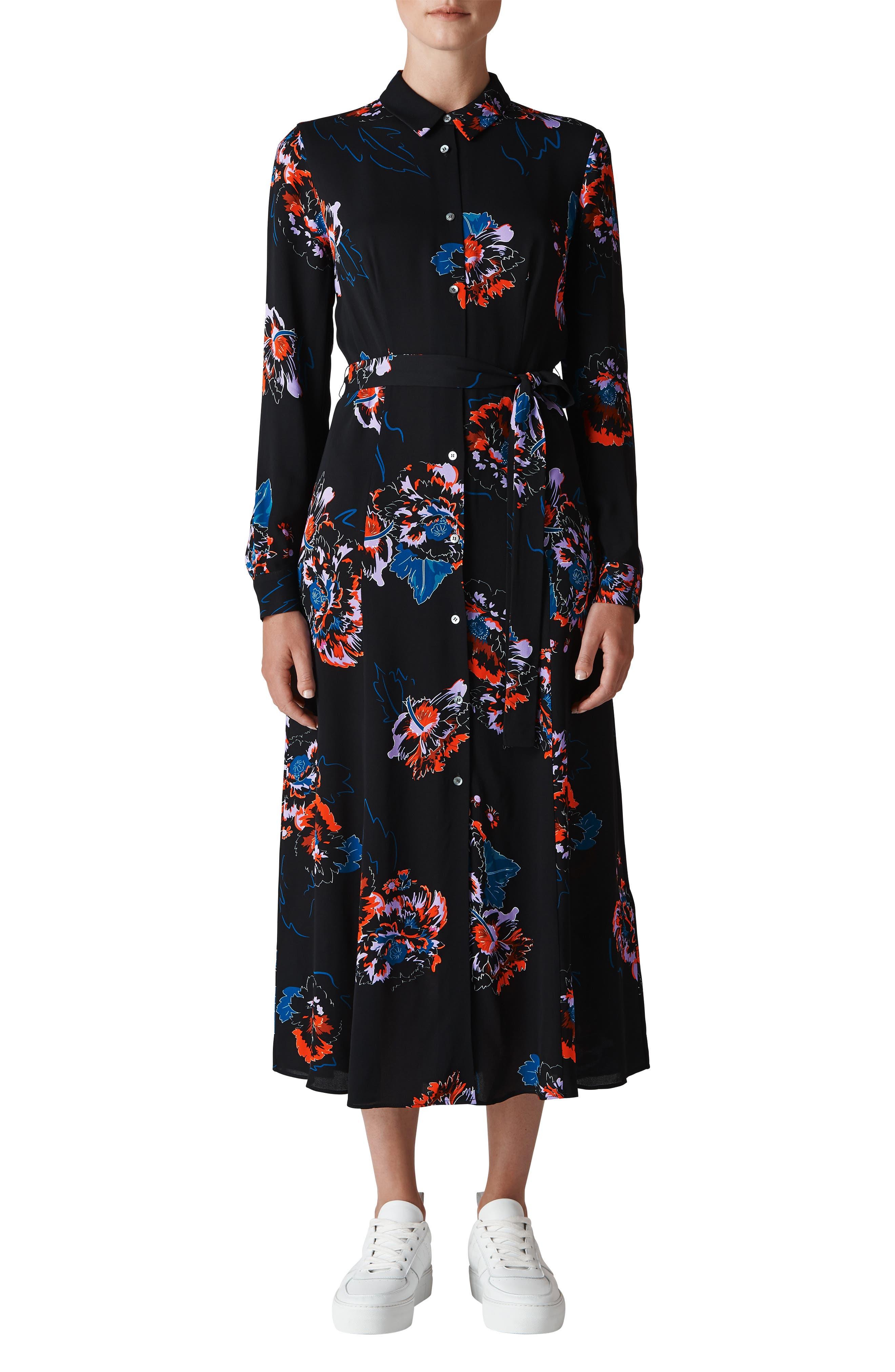 Freya Print Shirtdress,                         Main,                         color, 001