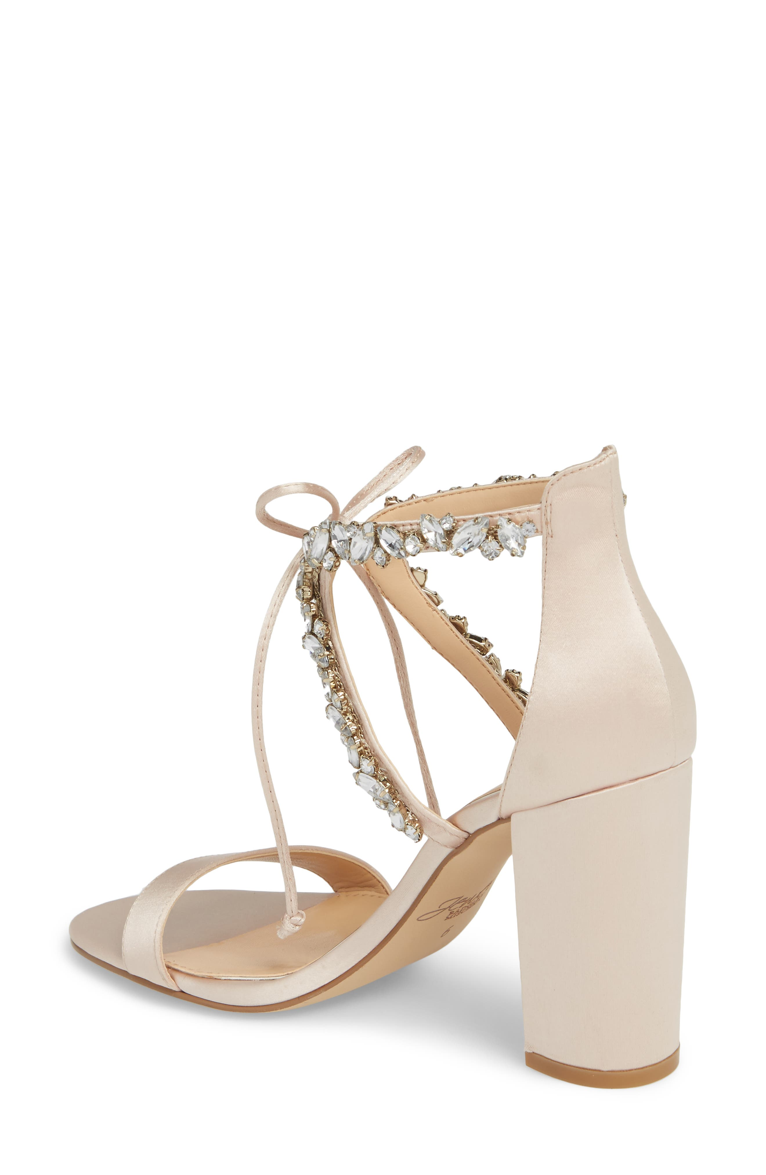 JEWEL BADGLEY MISCHKA,                             Thamar Embellished Sandal,                             Alternate thumbnail 2, color,                             CHAMPAGNE SATIN