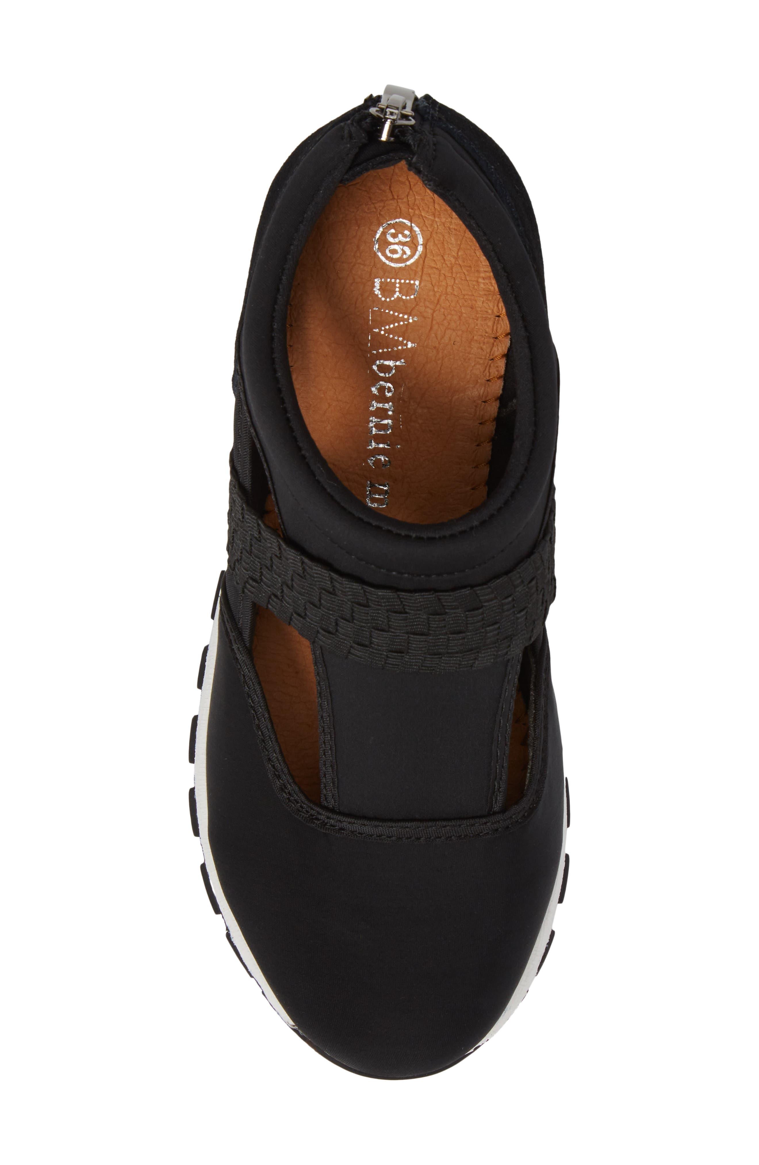 Bernie Mev Janelle Sneaker,                             Alternate thumbnail 5, color,                             BLACK FABRIC