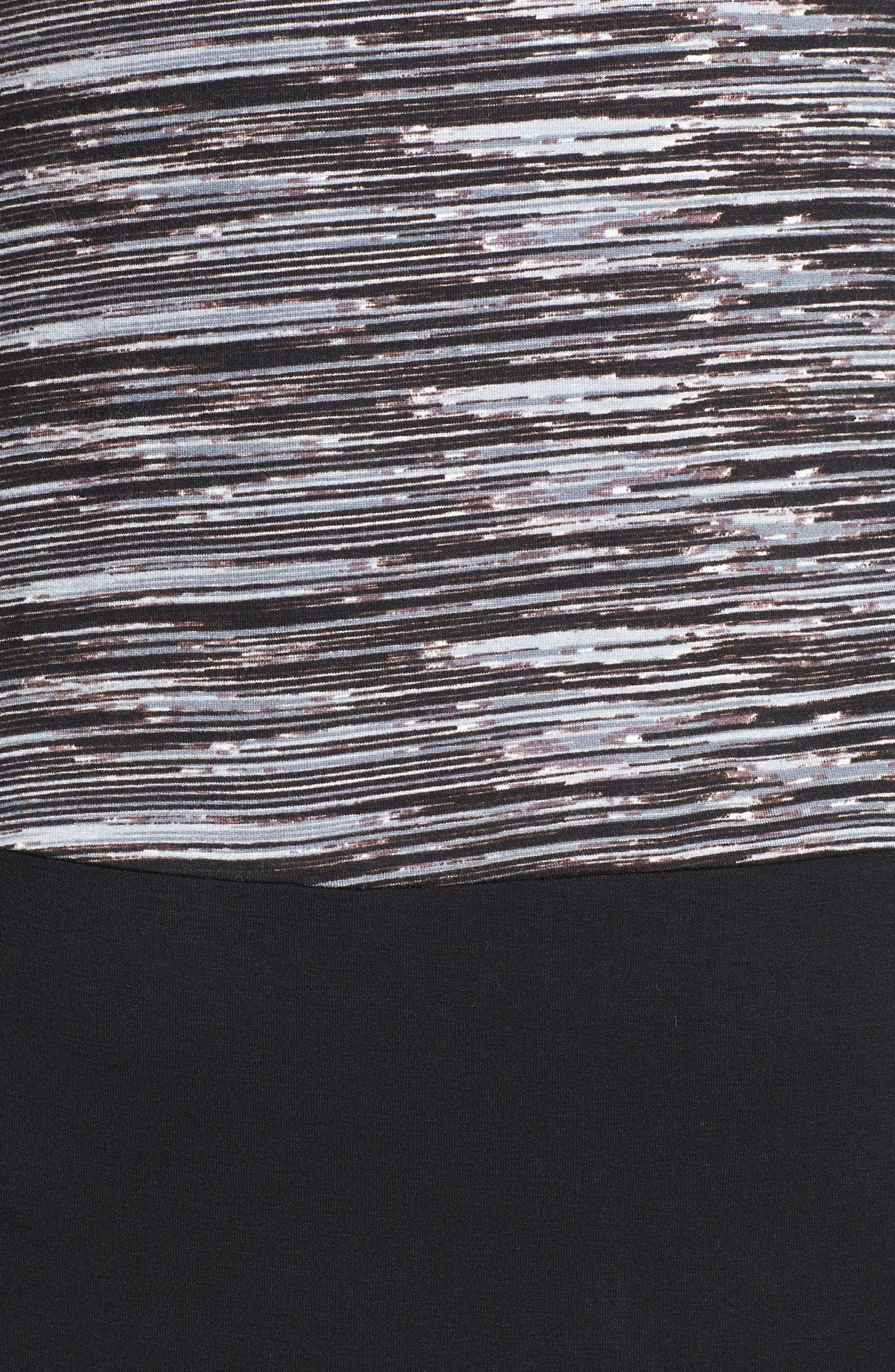 Keyhole Maternity Dress,                             Alternate thumbnail 4, color,                             001