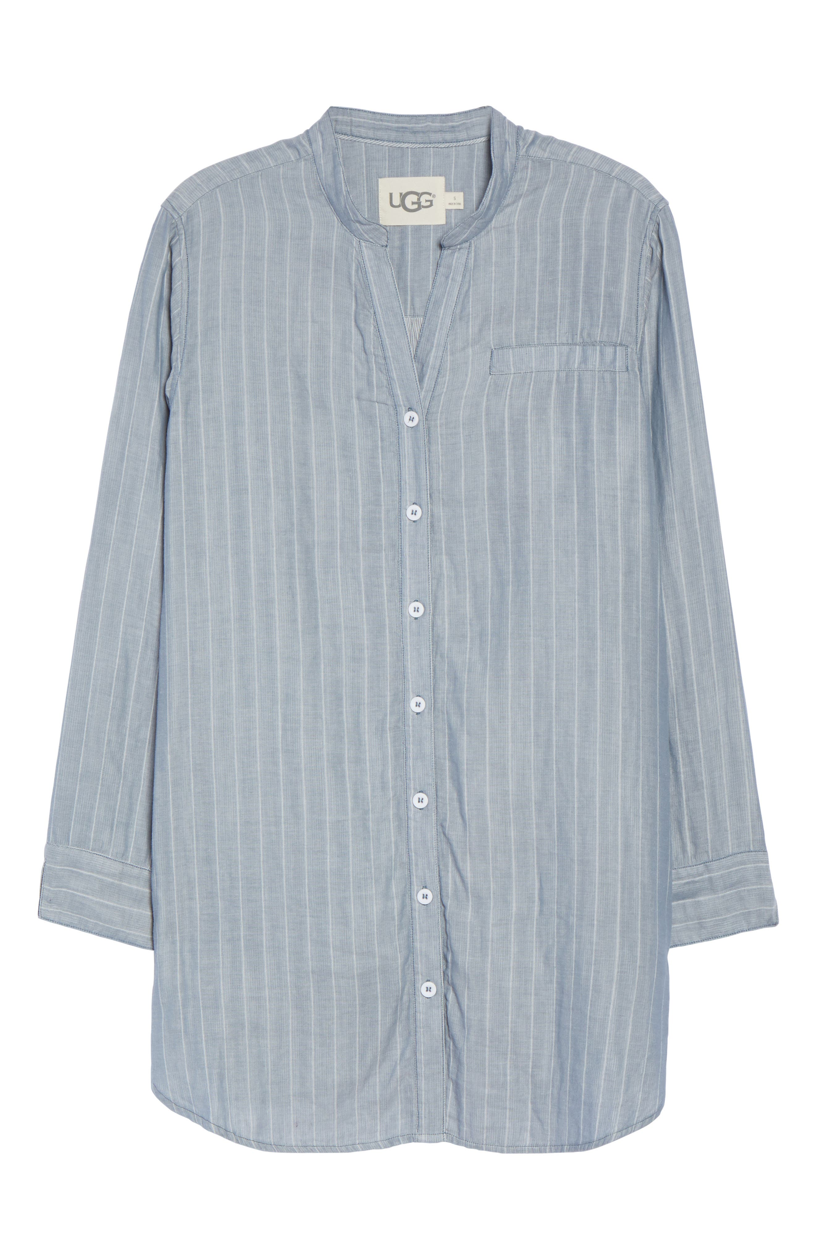 UGG Vivian Stripe Sleep Shirt,                             Alternate thumbnail 6, color,                             400