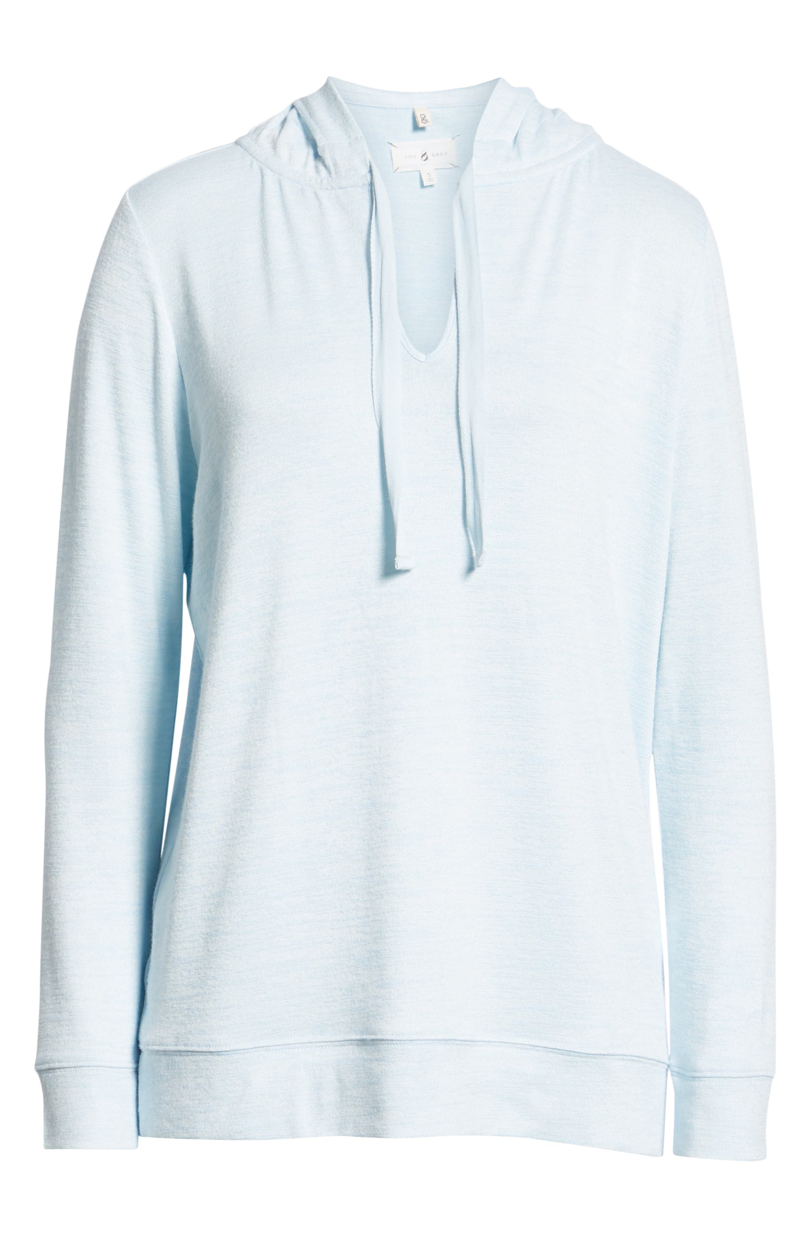 Soft Jersey Hoodie Top,                             Alternate thumbnail 6, color,                             BLUE