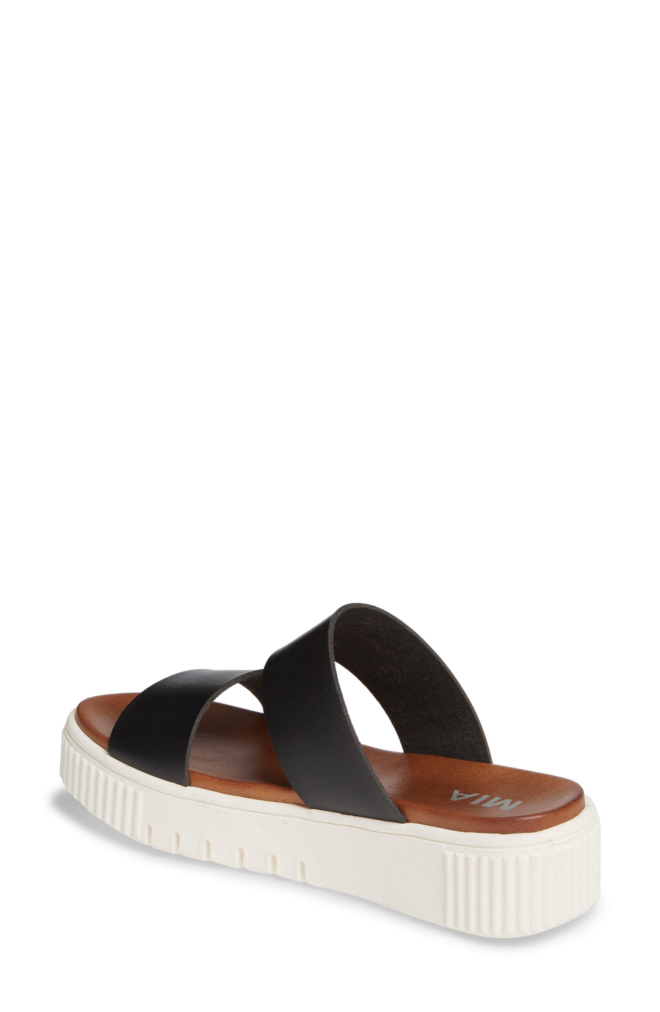 MIA,                             Lexi Platform Slide Sandal,                             Alternate thumbnail 2, color,                             BLACK LEATHER