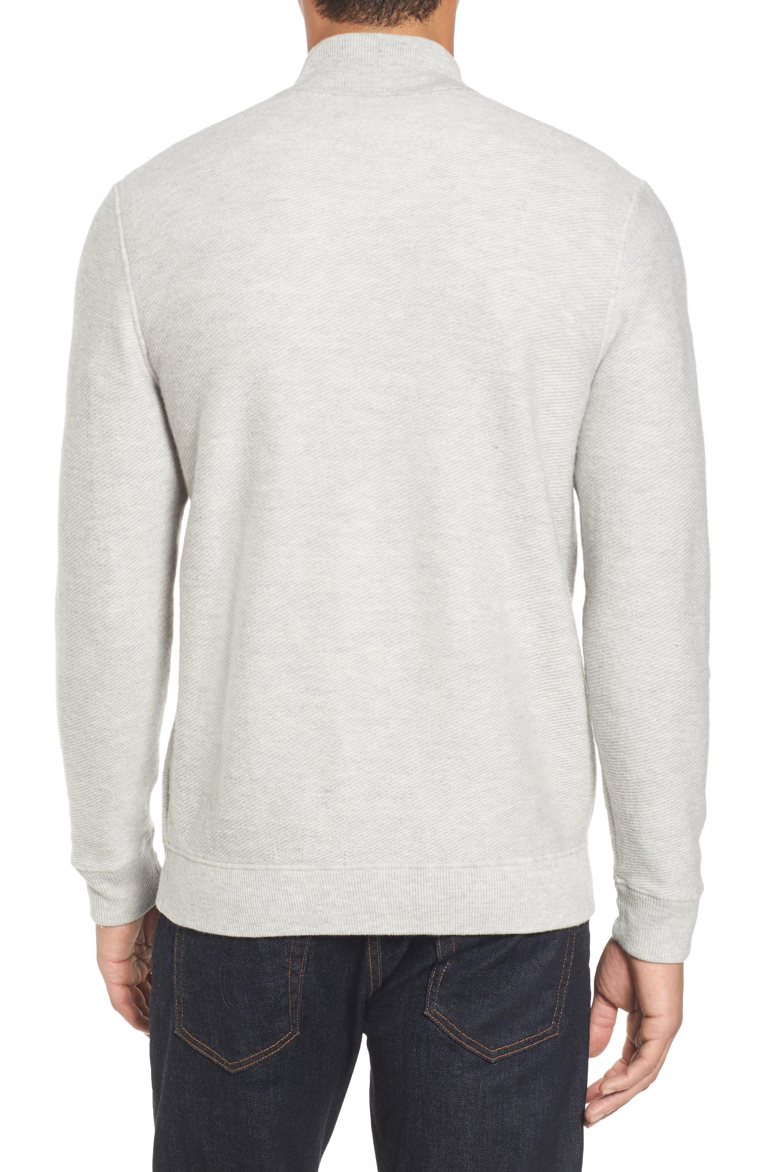 Merino Wool Twill Stitch Quarter Zip Sweater,                             Alternate thumbnail 2, color,                             039