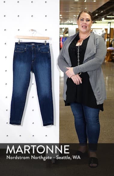 Ami High Waist Release Hem Stretch Ankle Skinny Jeans, sales video thumbnail