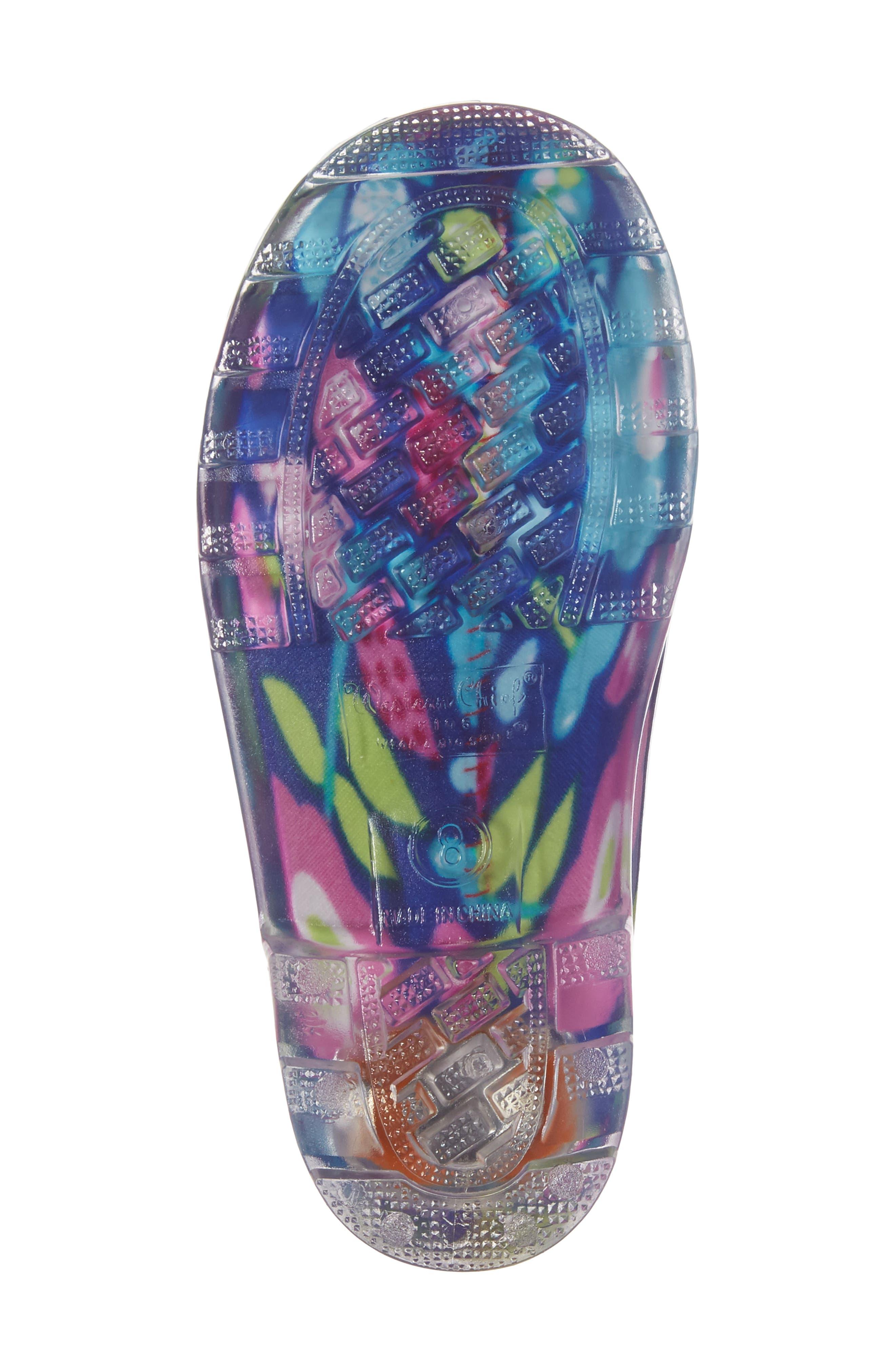 Pop Flower Light-Up Rain Boot,                             Alternate thumbnail 6, color,