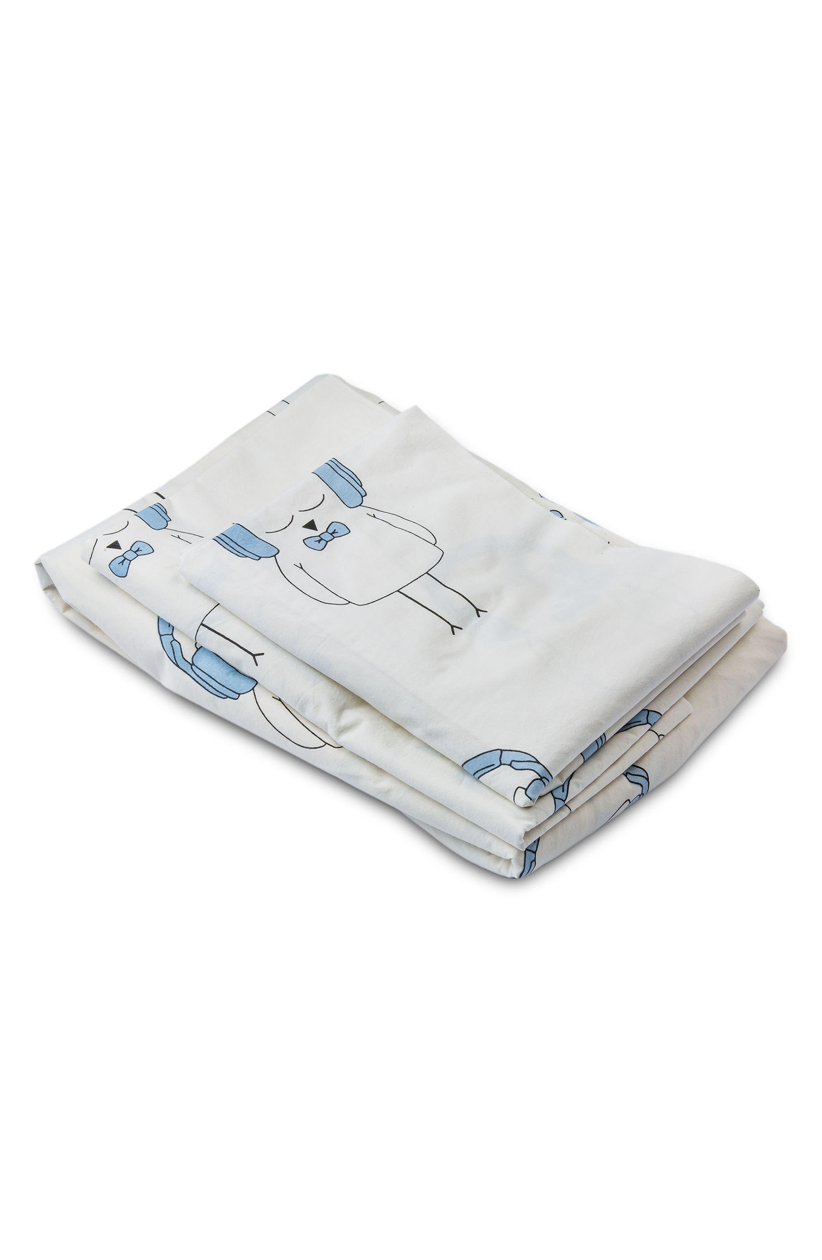 LIL' PYAR,                             Ollie Twin Sheet & Pillowcase Set,                             Alternate thumbnail 3, color,                             459